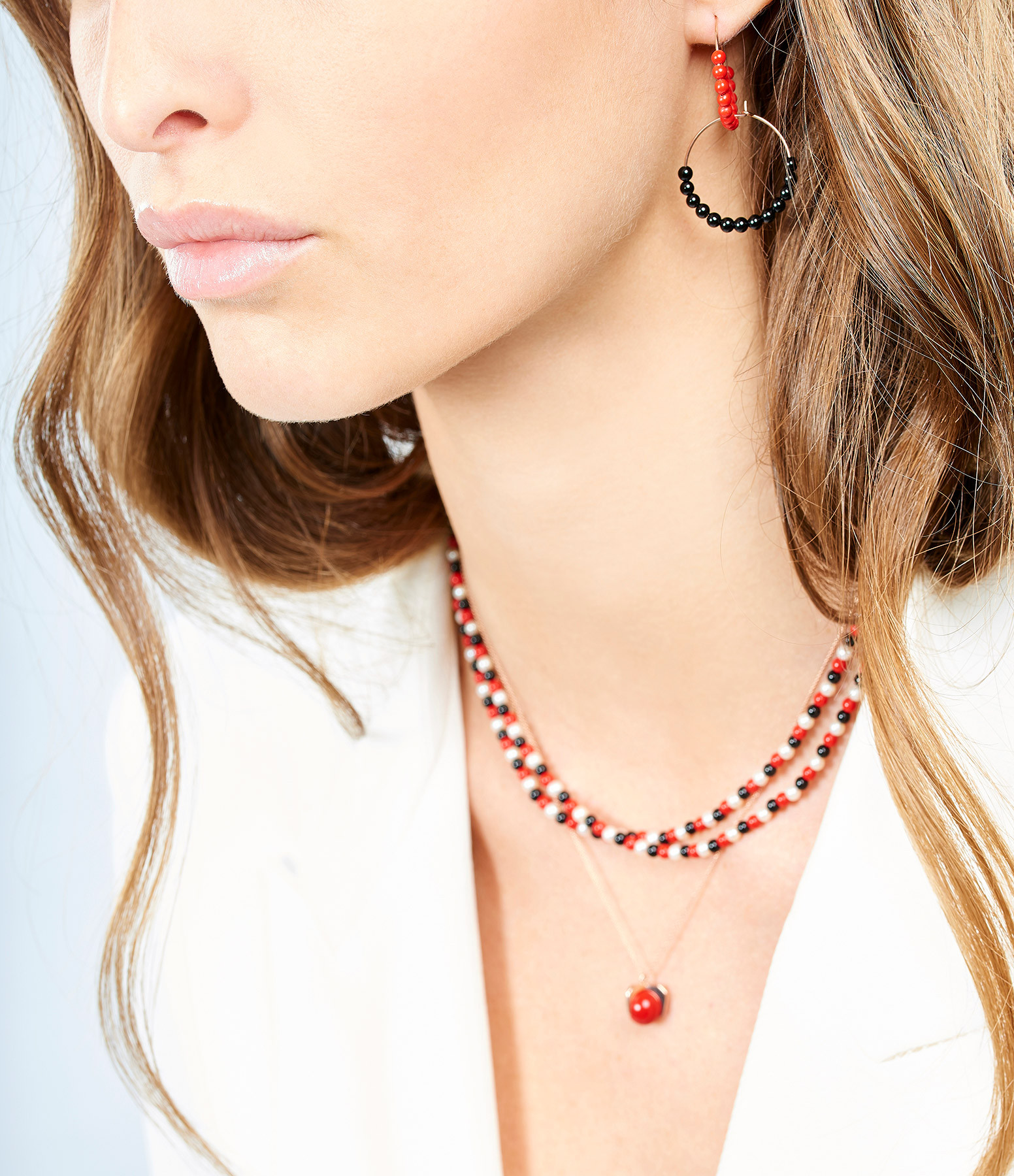 GINETTE_NY - Créoles Maria Or Rose Onyx