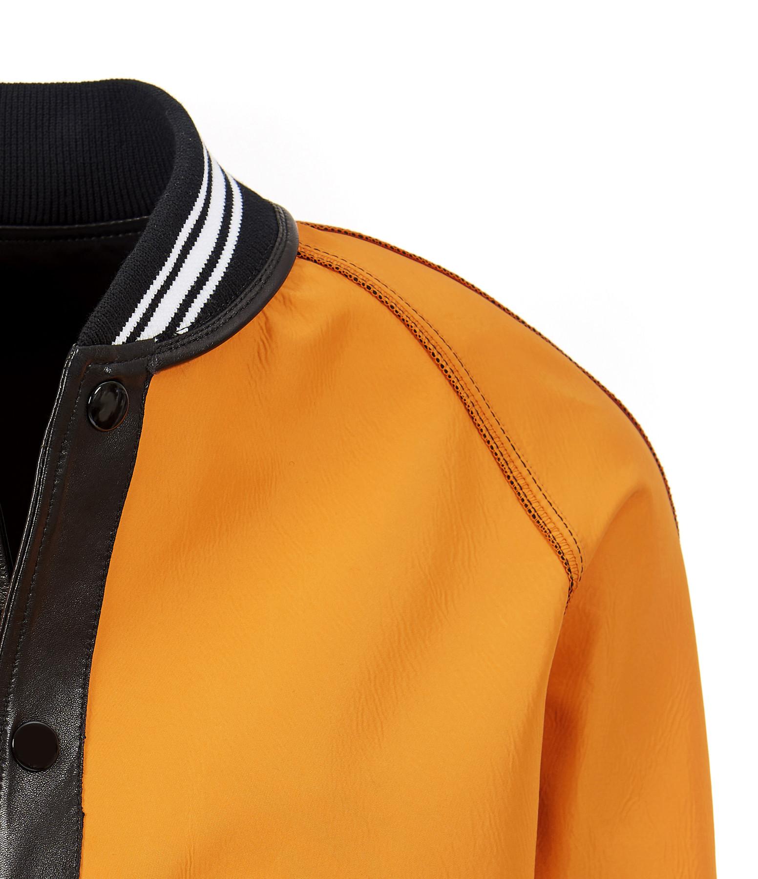 GOLDEN GOOSE - Bomber Homme Chuck Cuir Noir Orange