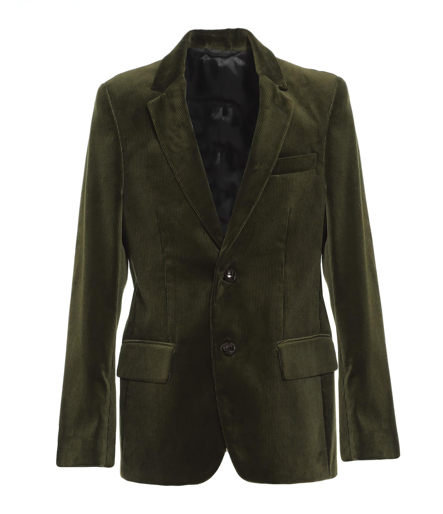 GOLDEN GOOSE - Blazer Homme Velours Côtelé Vert
