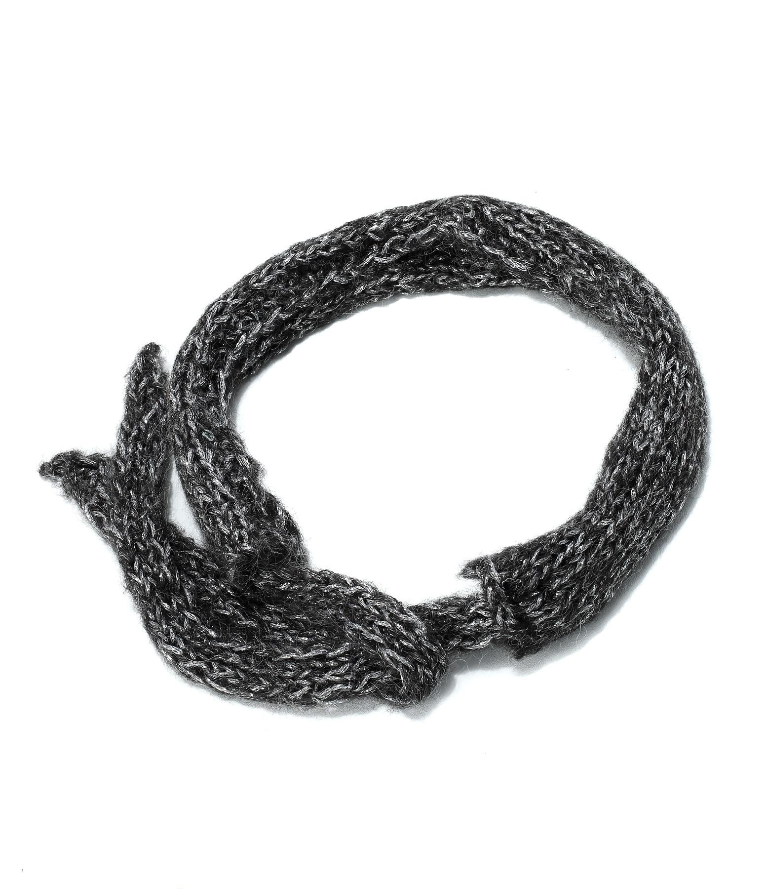 IDA DEGLIAME - Headband Mon Petit Lurex Laine Noir Silver