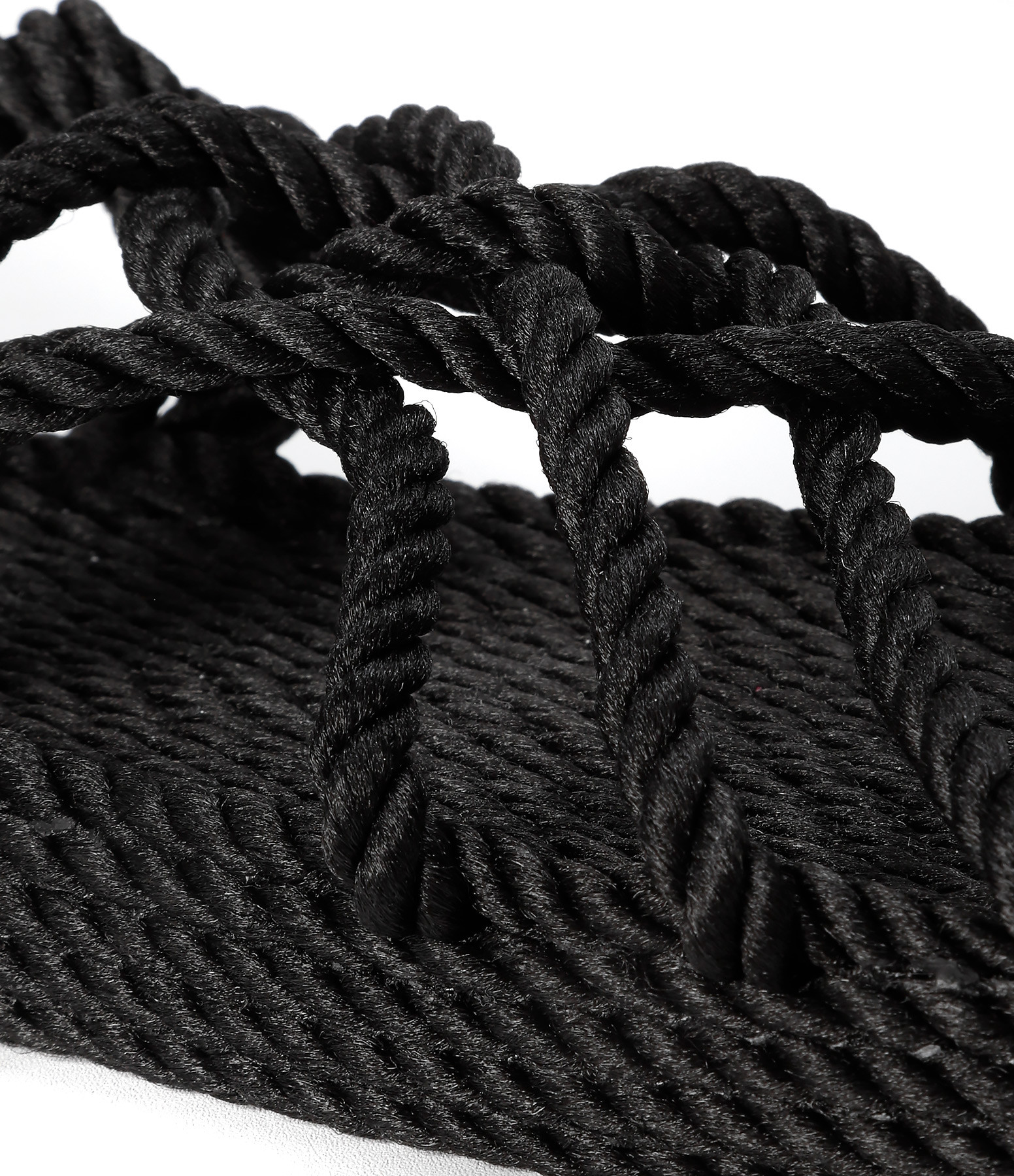 NOMADIC STATE OF MIND - Sandales Vegan JC Plateforme Corde Noir