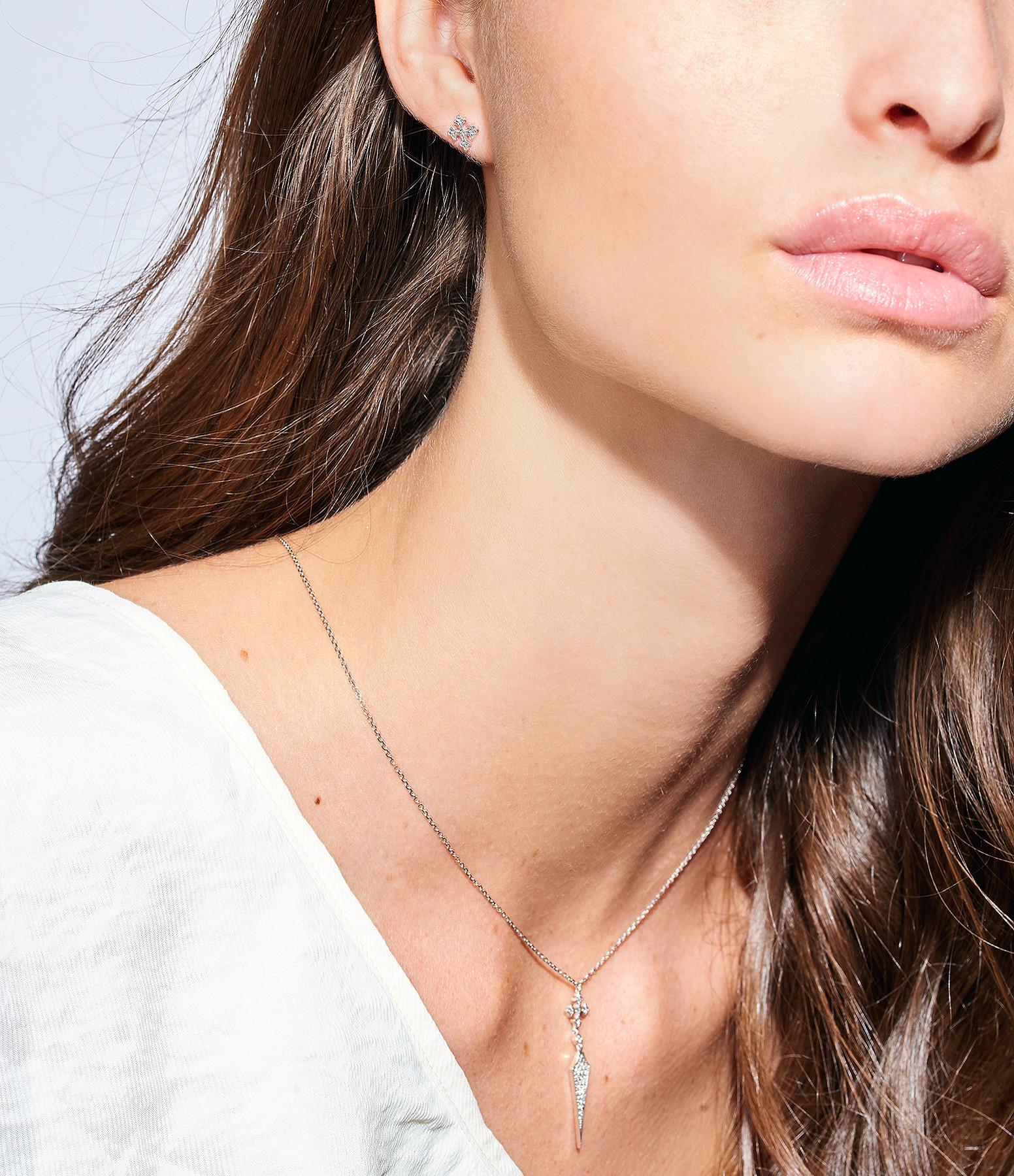 Boucle Passion Bouton Or Diamants (vendue à l'unité) - STONE