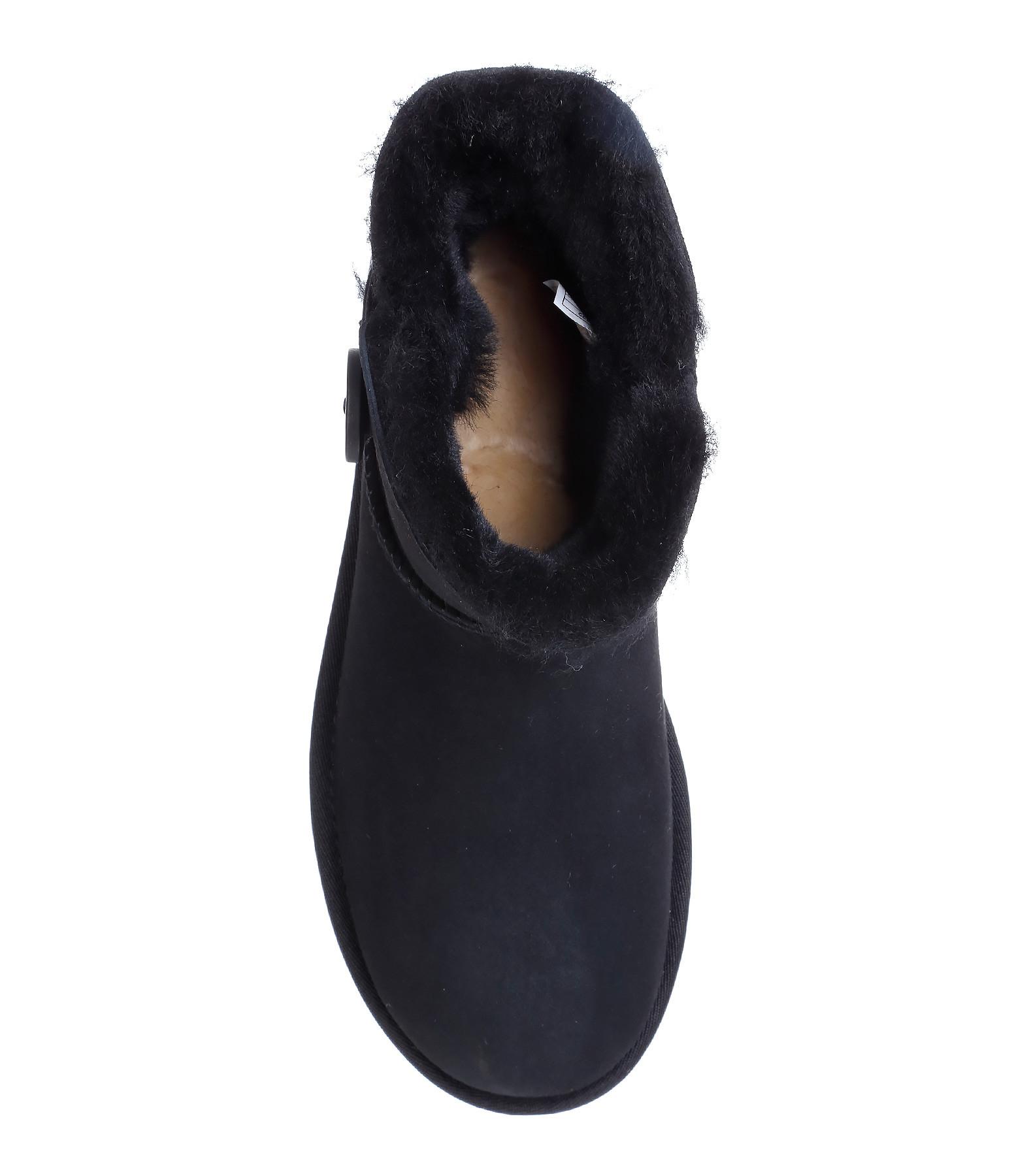 UGG,Boots Mini Bailey Button II Noir,lulli-sur-la-toile.com