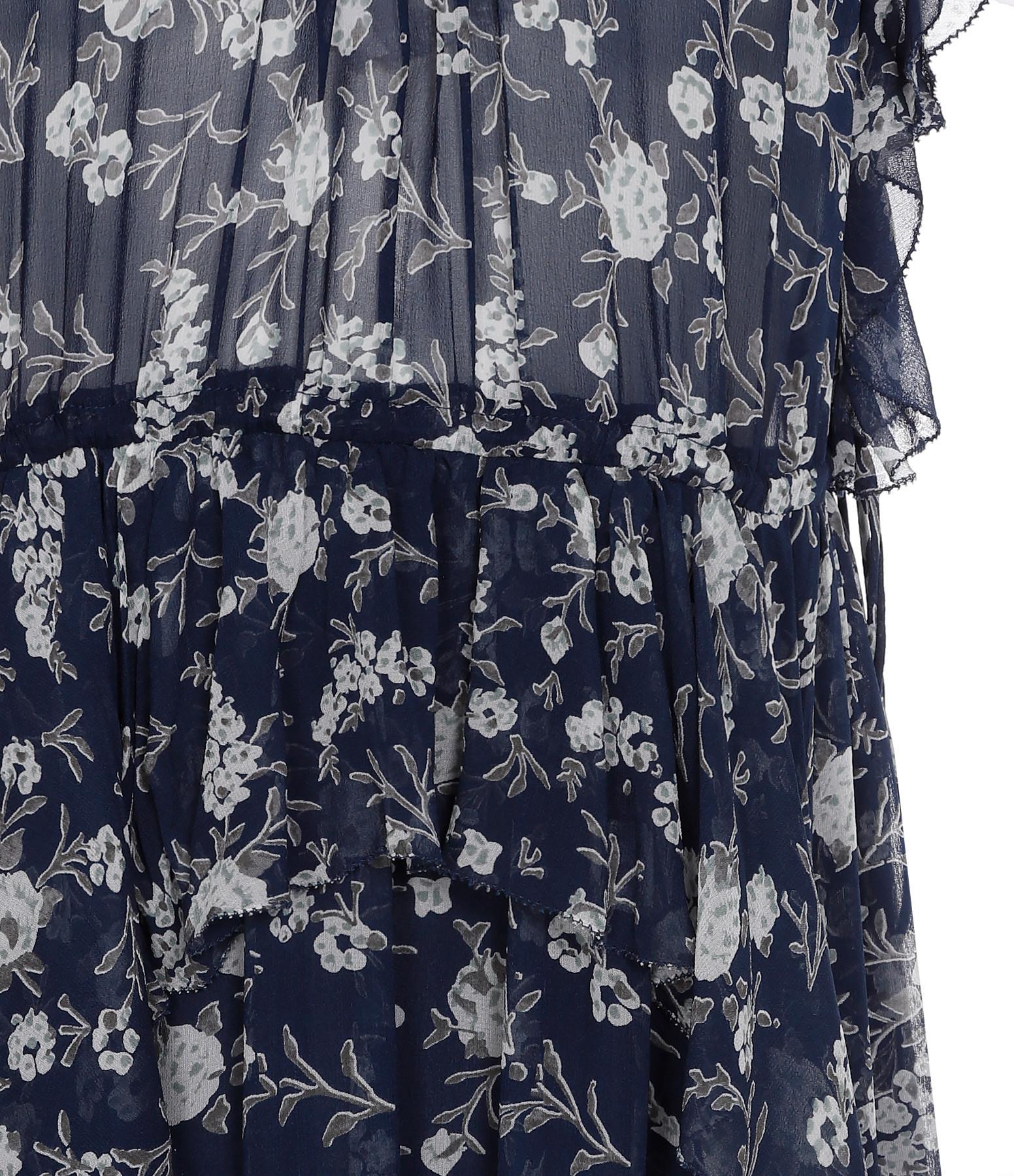 ULLA JOHNSON - Robe Garden Floral Caterina Soie Azur