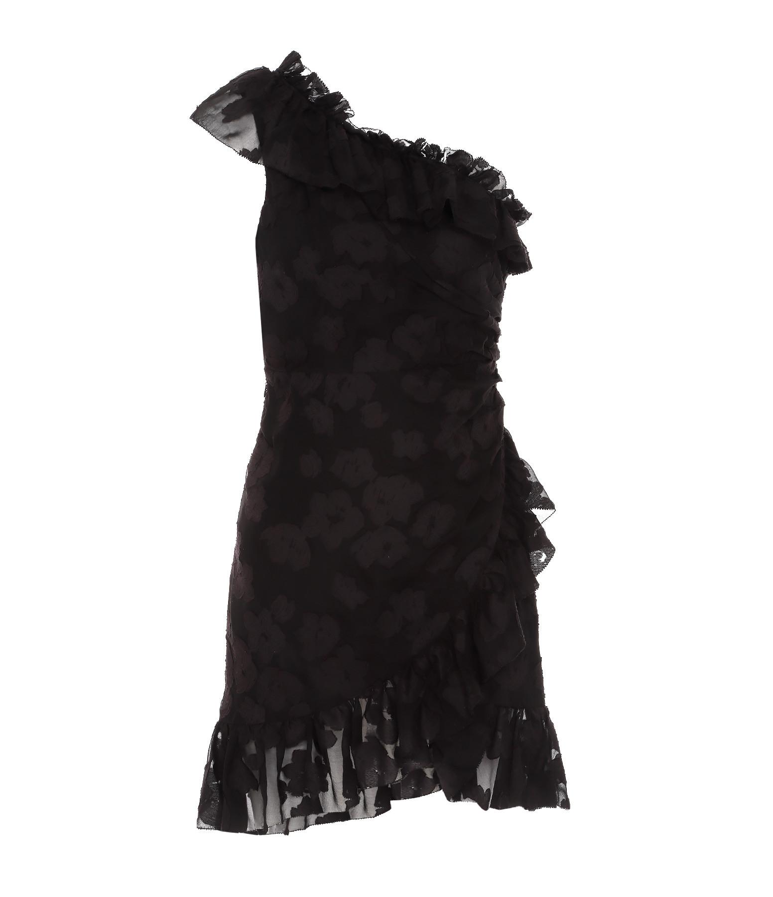 ULLA JOHNSON - Robe Tapestry Rimona Soie Coton Noir