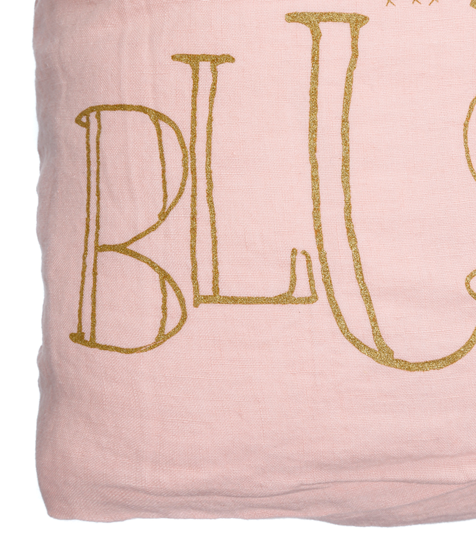 Coussin Molly Lin Blush Print Gold 35 x 35 - Bed and Philosophy