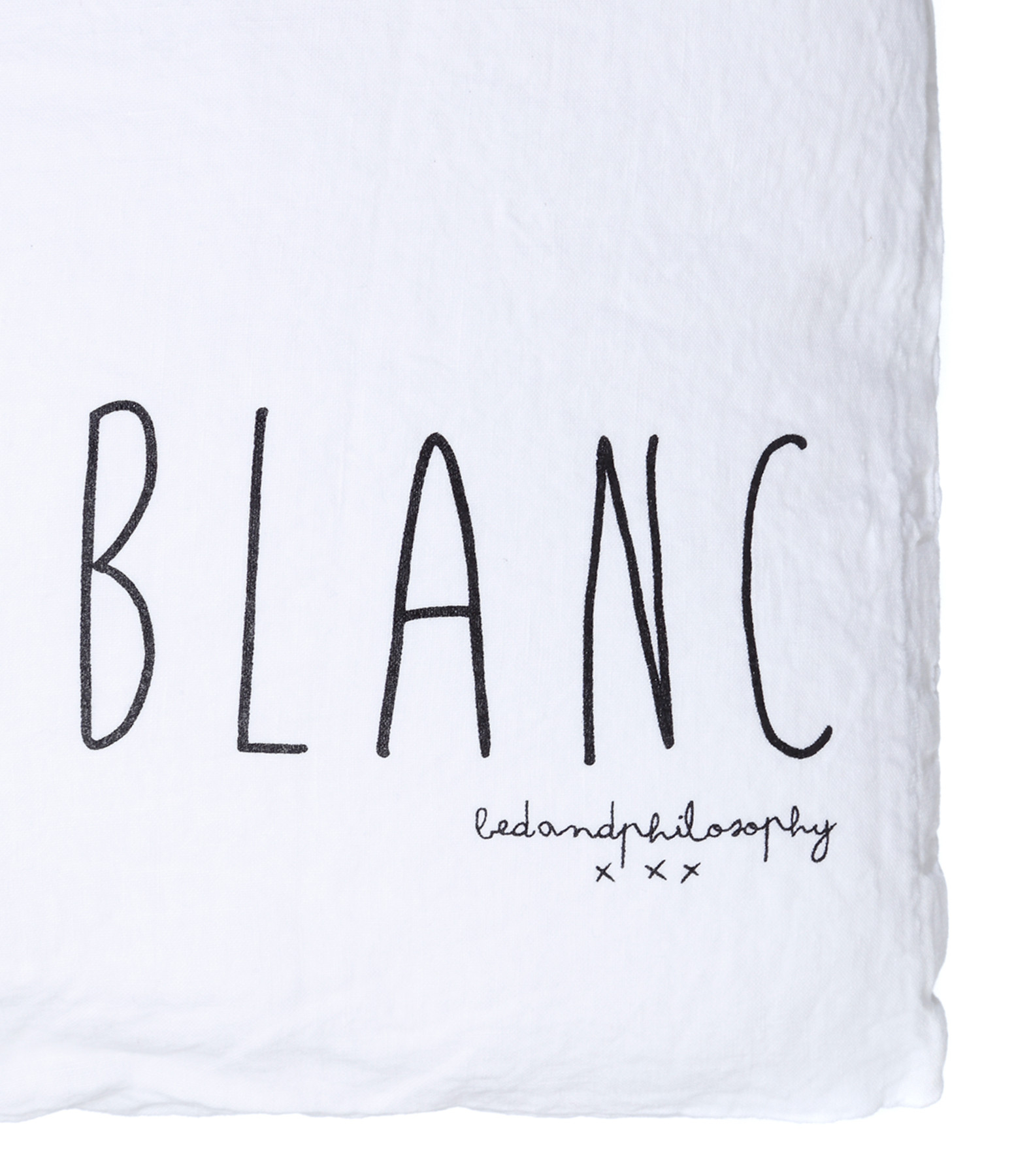 BED AND PHILOSOPHY - Coussin Molly Lin Blanc Print Noir