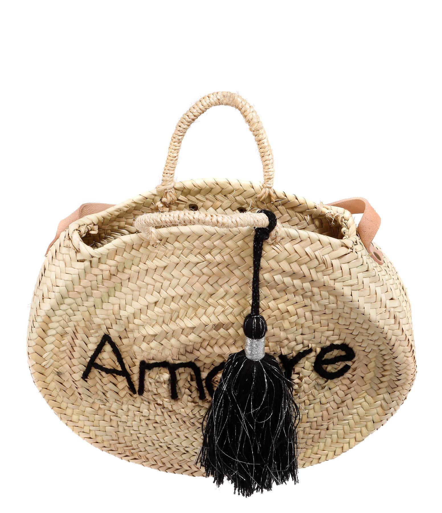 ANATA - Panier Rond Amore Argenté