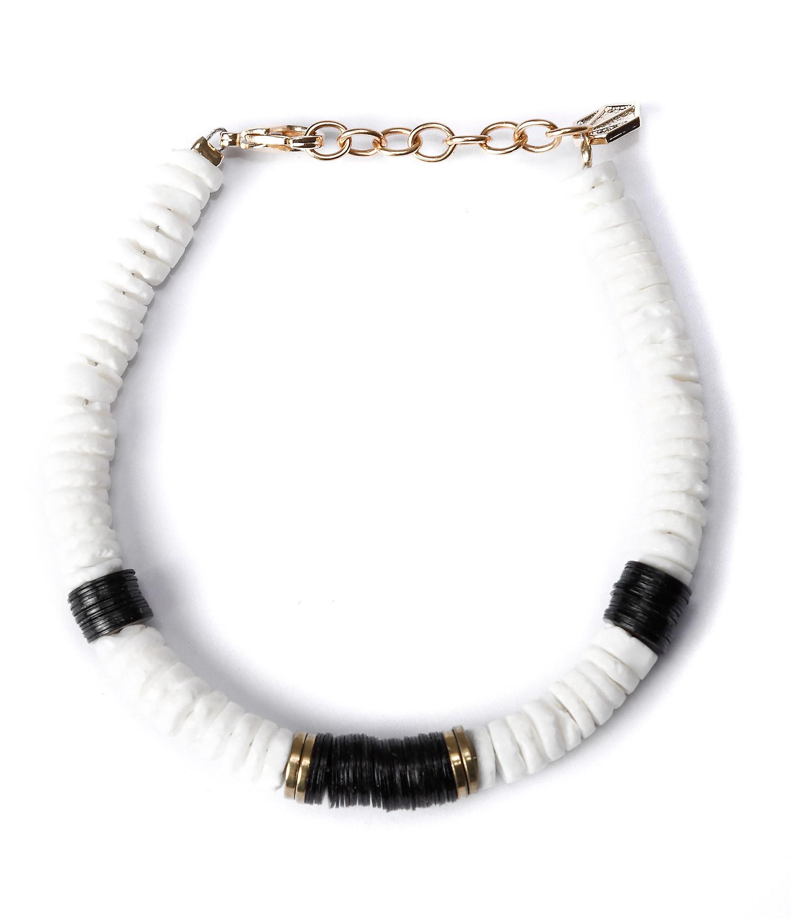 SISTERSTONE - Bracelet Desert Blanc Doré Noir