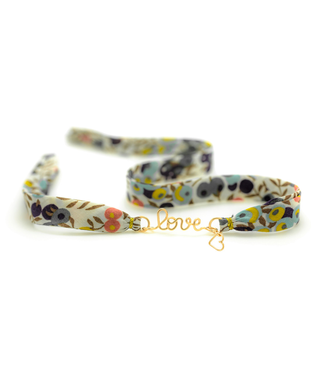 ATELIER PAULIN - Bracelet Double Liberty Love Charms Gold Filled 14K
