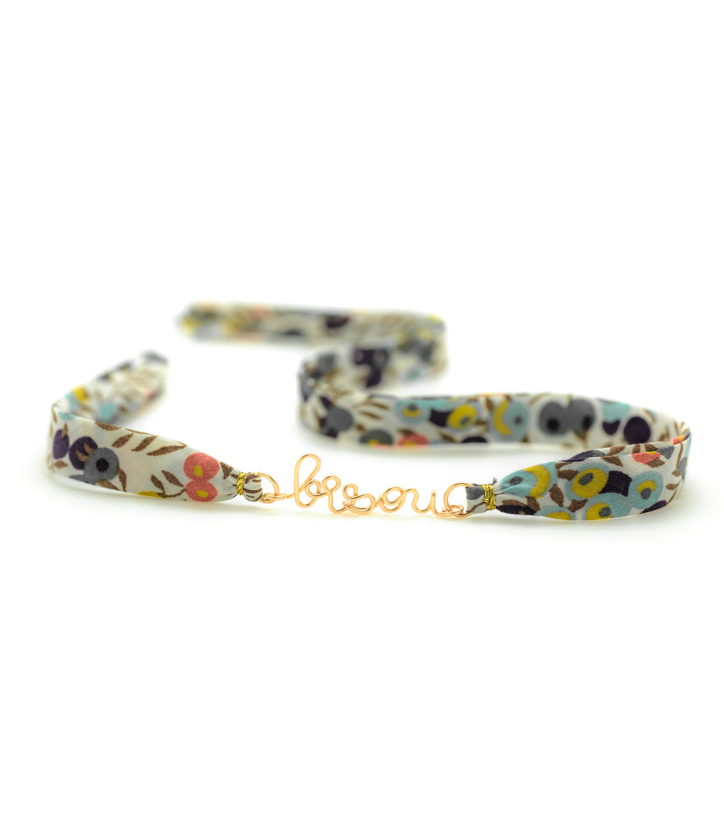 ATELIER PAULIN - Bracelet Double Liberty Bisou Gold Filled 14K