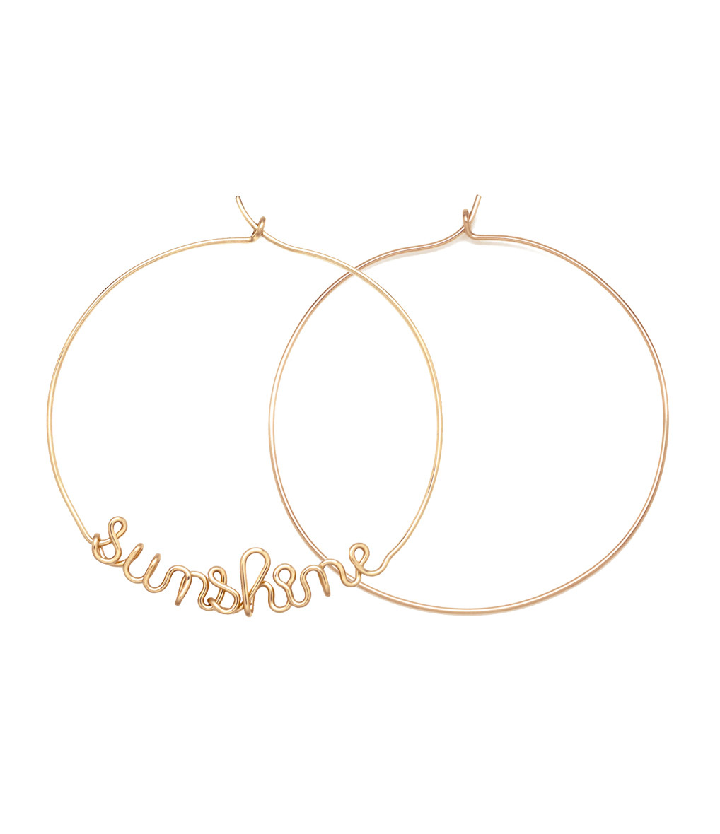 ATELIER PAULIN - Créoles Sunshine Gold Filled 14K