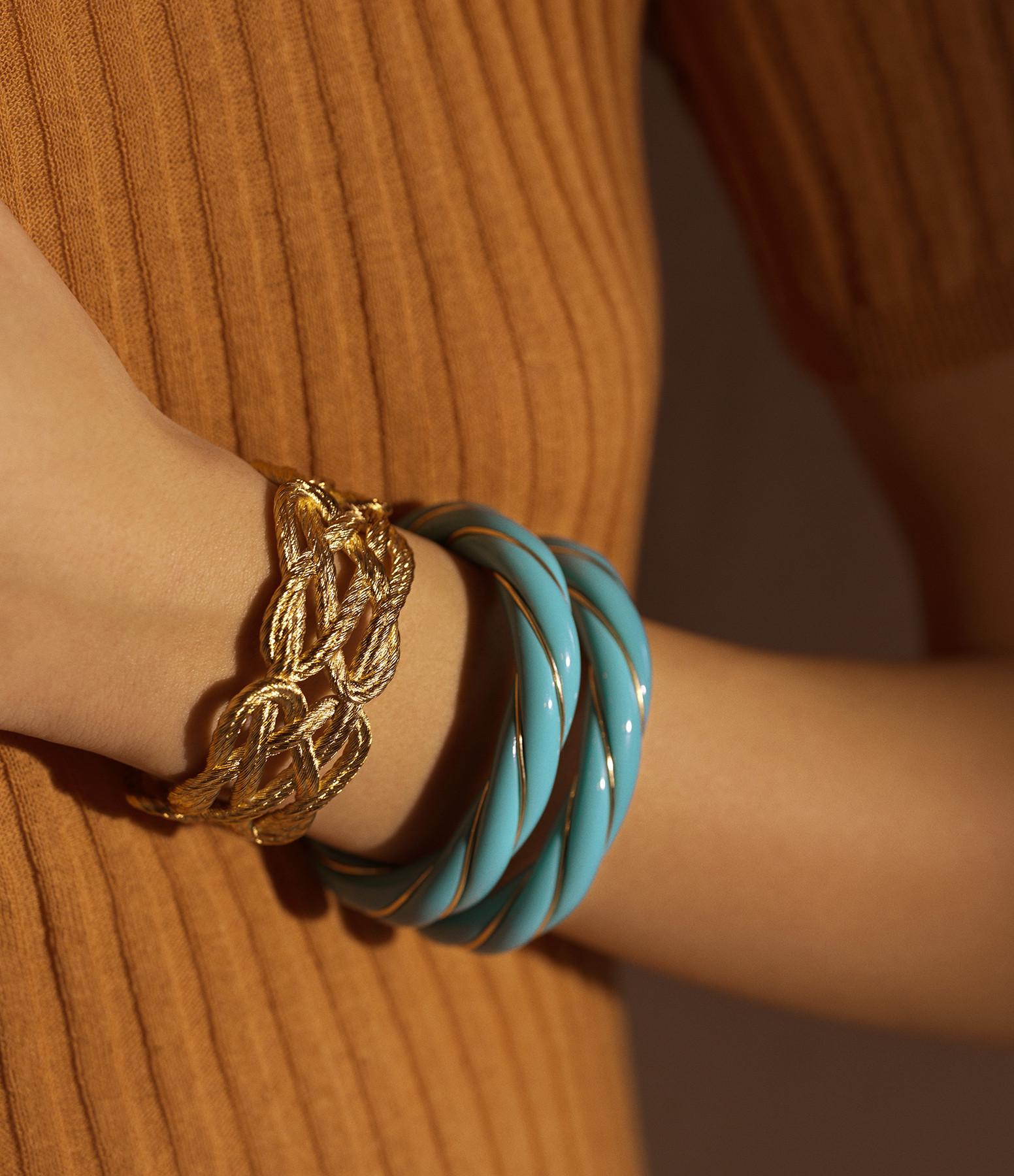 AURELIE BIDERMANN - Bracelet Diana Torsadé Turquoise