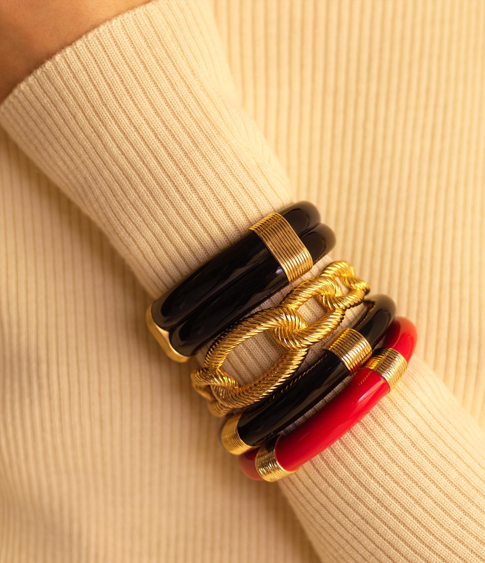 AURELIE BIDERMANN - Bracelet Katt PM Résine Rouge