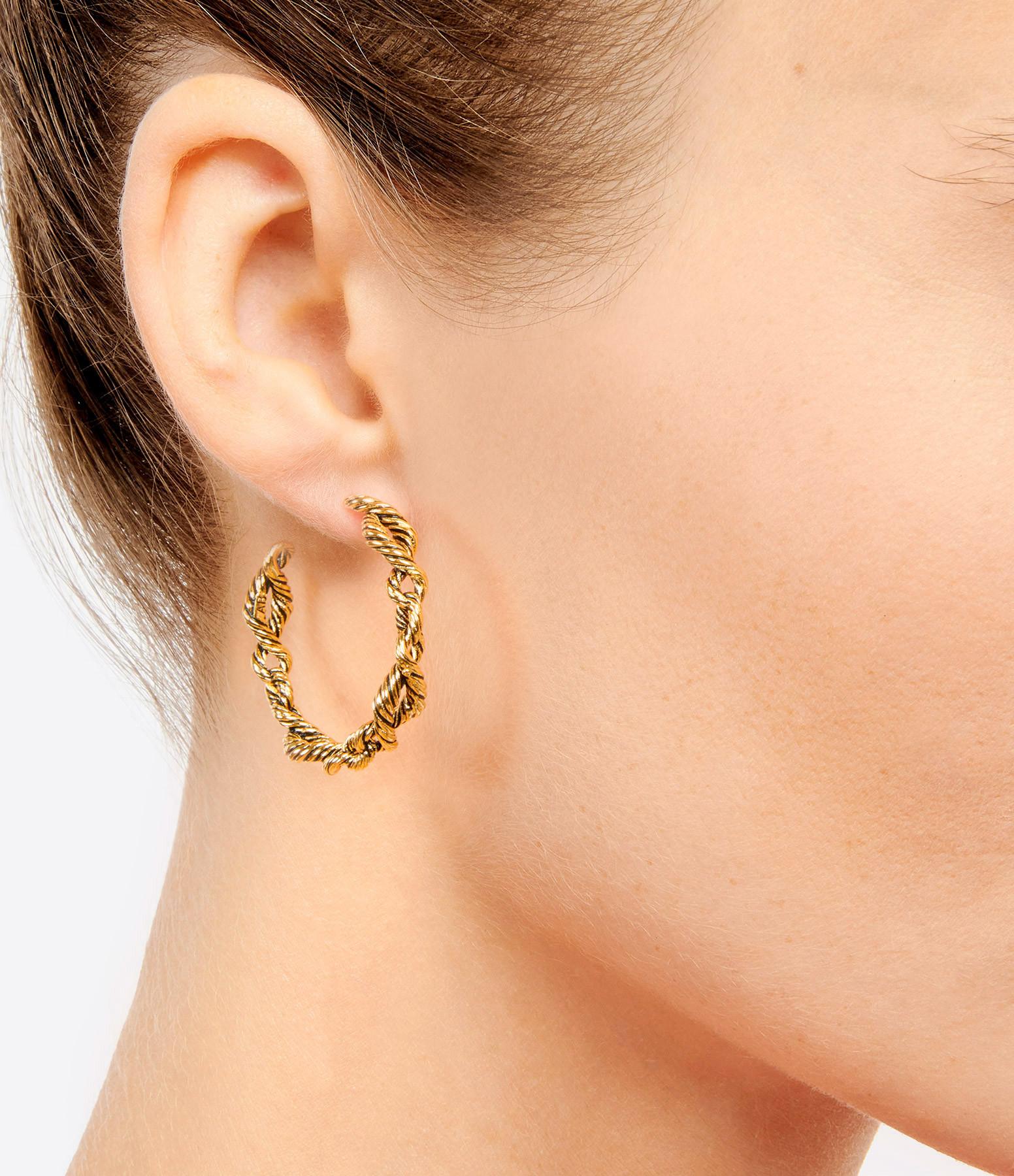 AURELIE BIDERMANN - Boucles d'oreilles Lola Plaqué Or Jaune