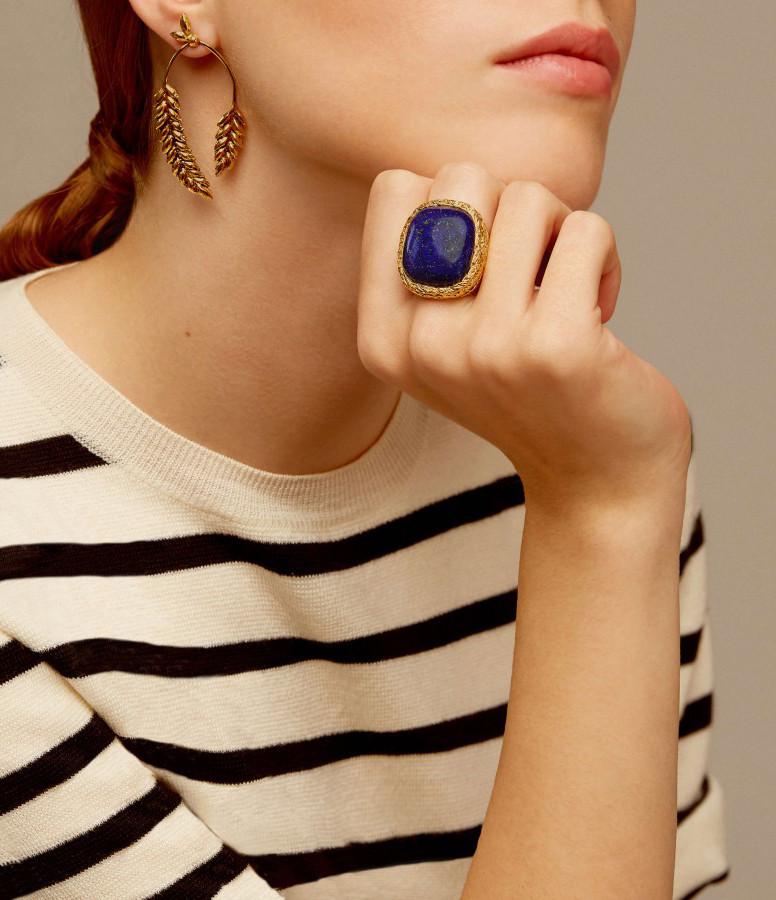 Chevalière Miki Dora Lapis Lazuli - Aurélie Bidermann