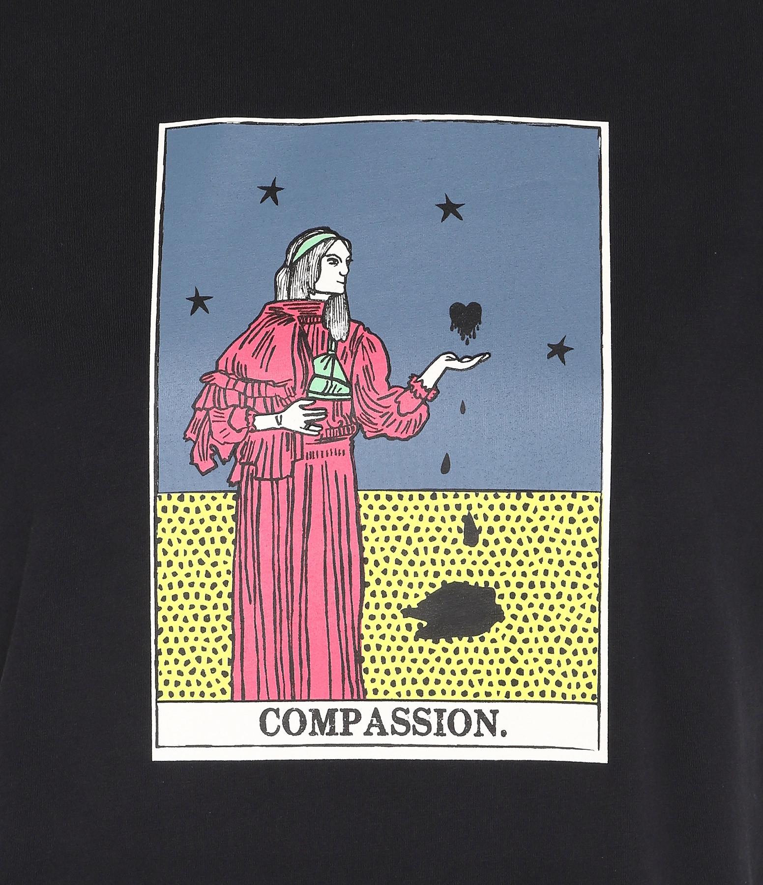 ALEXA CHUNG - Tee-shirt Compassion Coton Noir