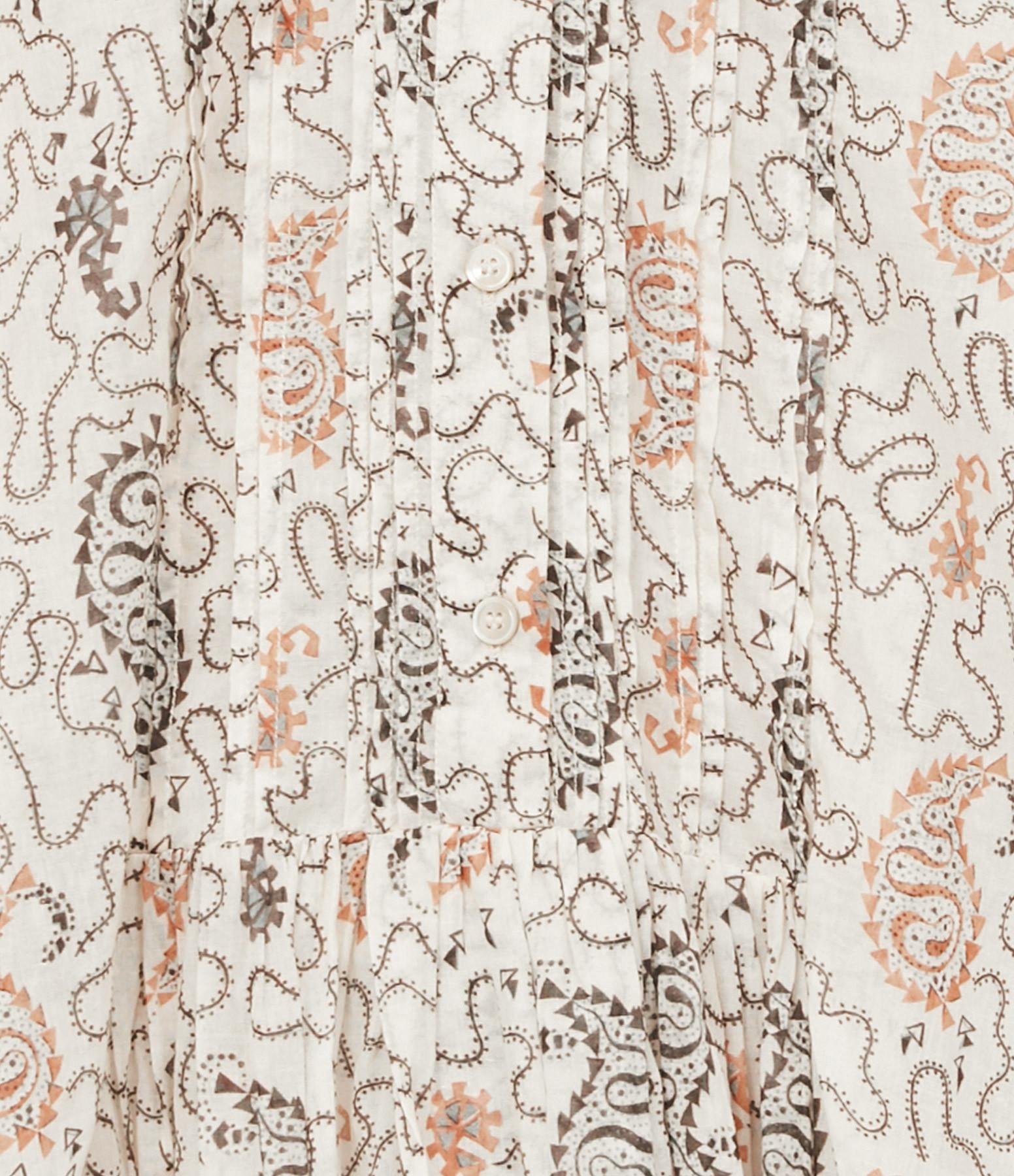ISABEL MARANT ÉTOILE - Blouse Adigra Coton Imprimé Écru