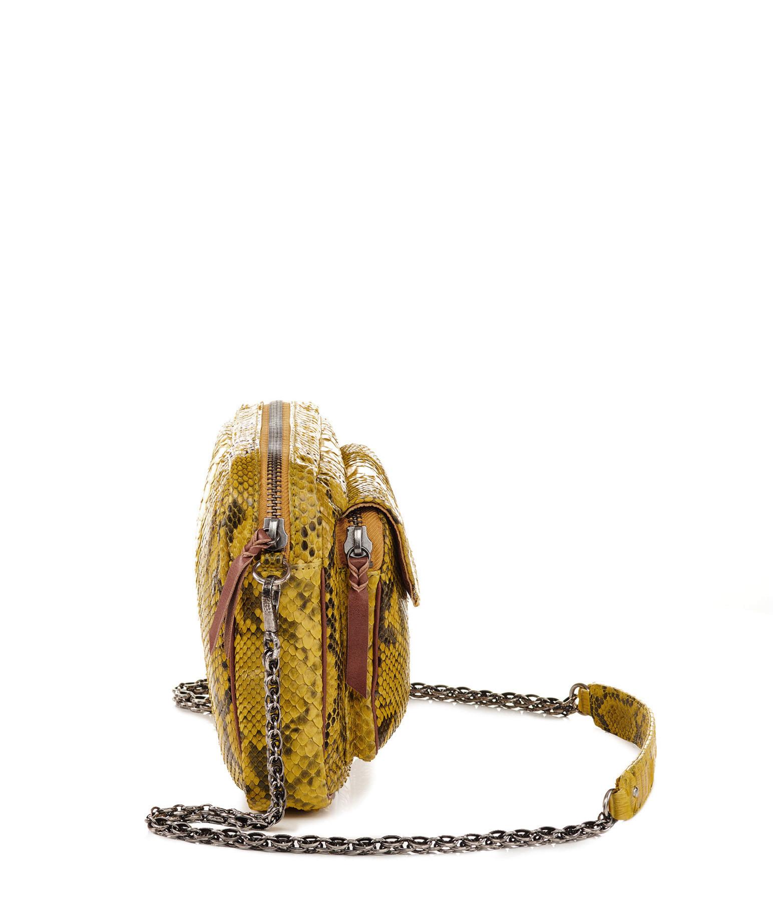 CLARIS VIROT - Sac Big Charly Python Jaune