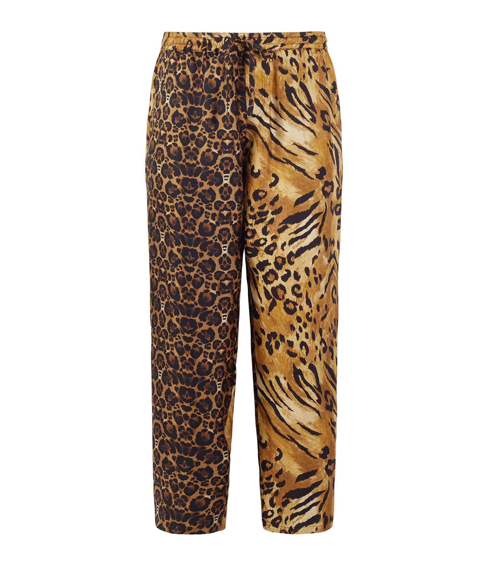 PIERRE-LOUIS MASCIA - Pantalon Aloe Soie Imprimé Animal