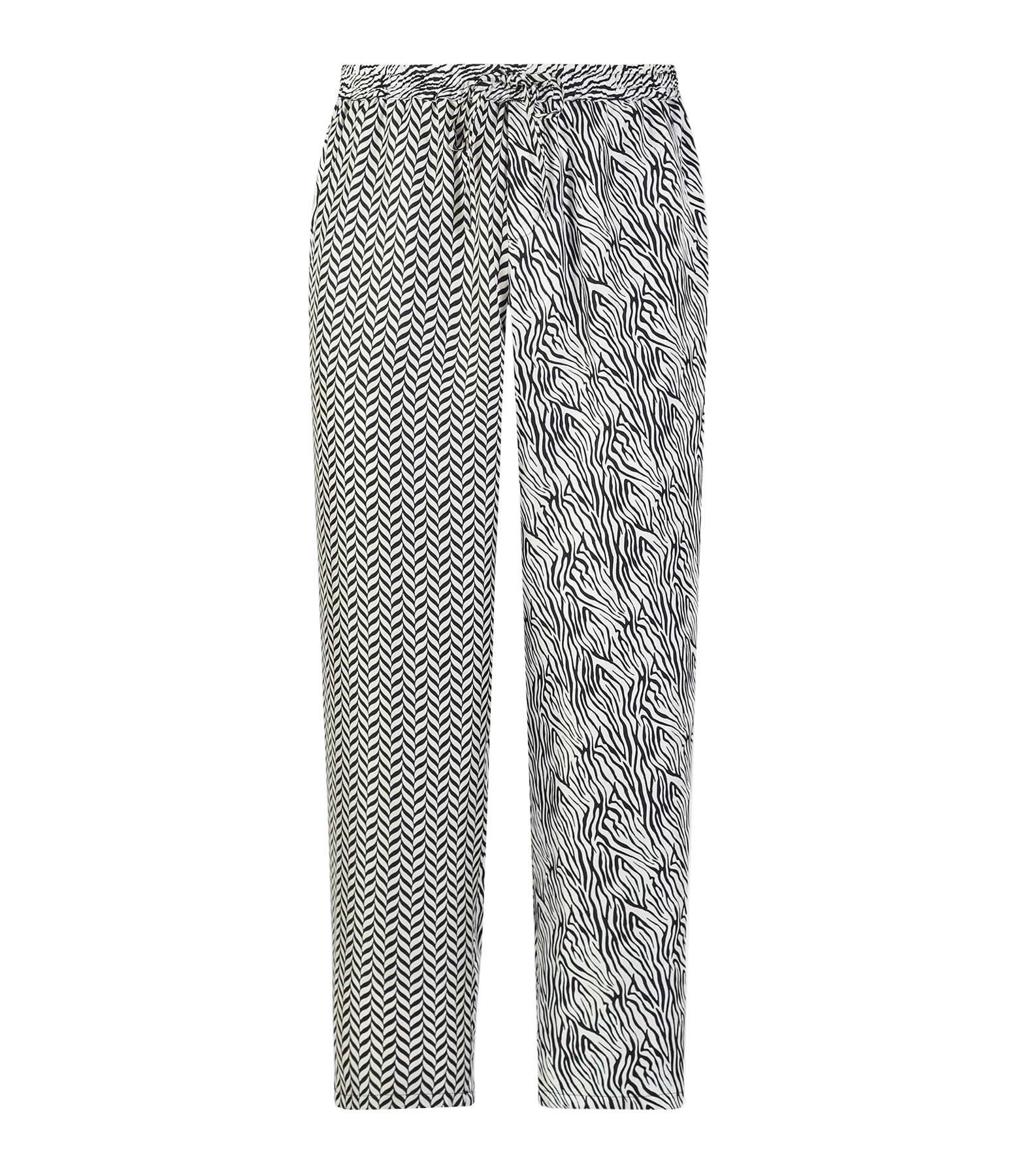 PIERRE-LOUIS MASCIA - Pantalon Aloe Soie Imprimé Noir