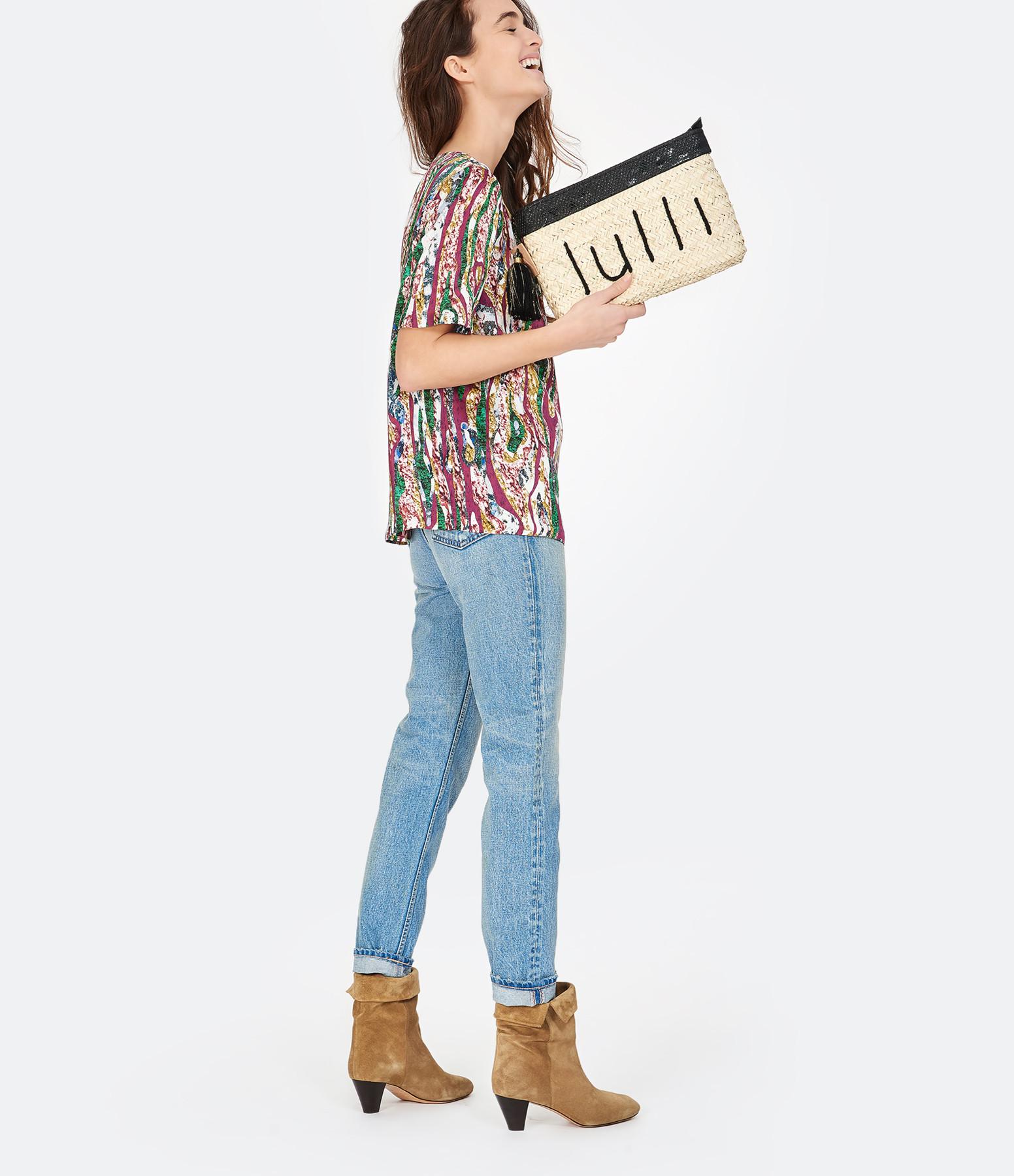 ANATA - Pochette Python Lulli Doré