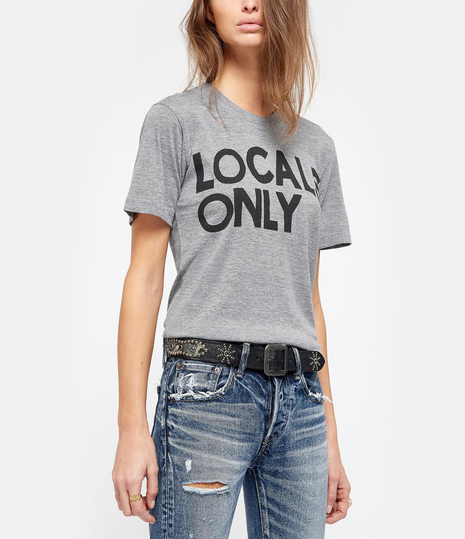 AVIATOR NATION - Tee-shirt Locals Coton Gris Chiné