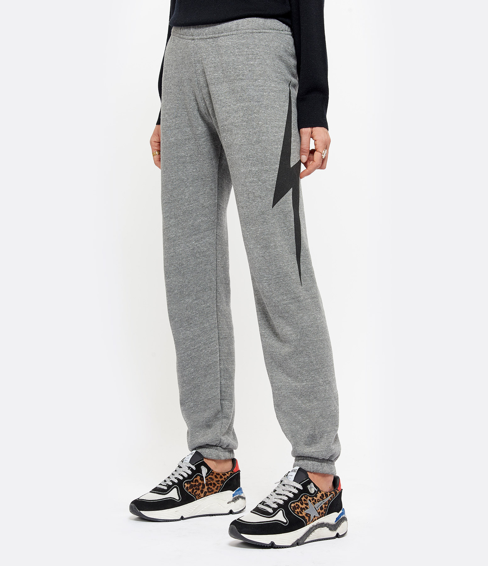 AVIATOR NATION - Jogging Bolt Coton Gris Chiné