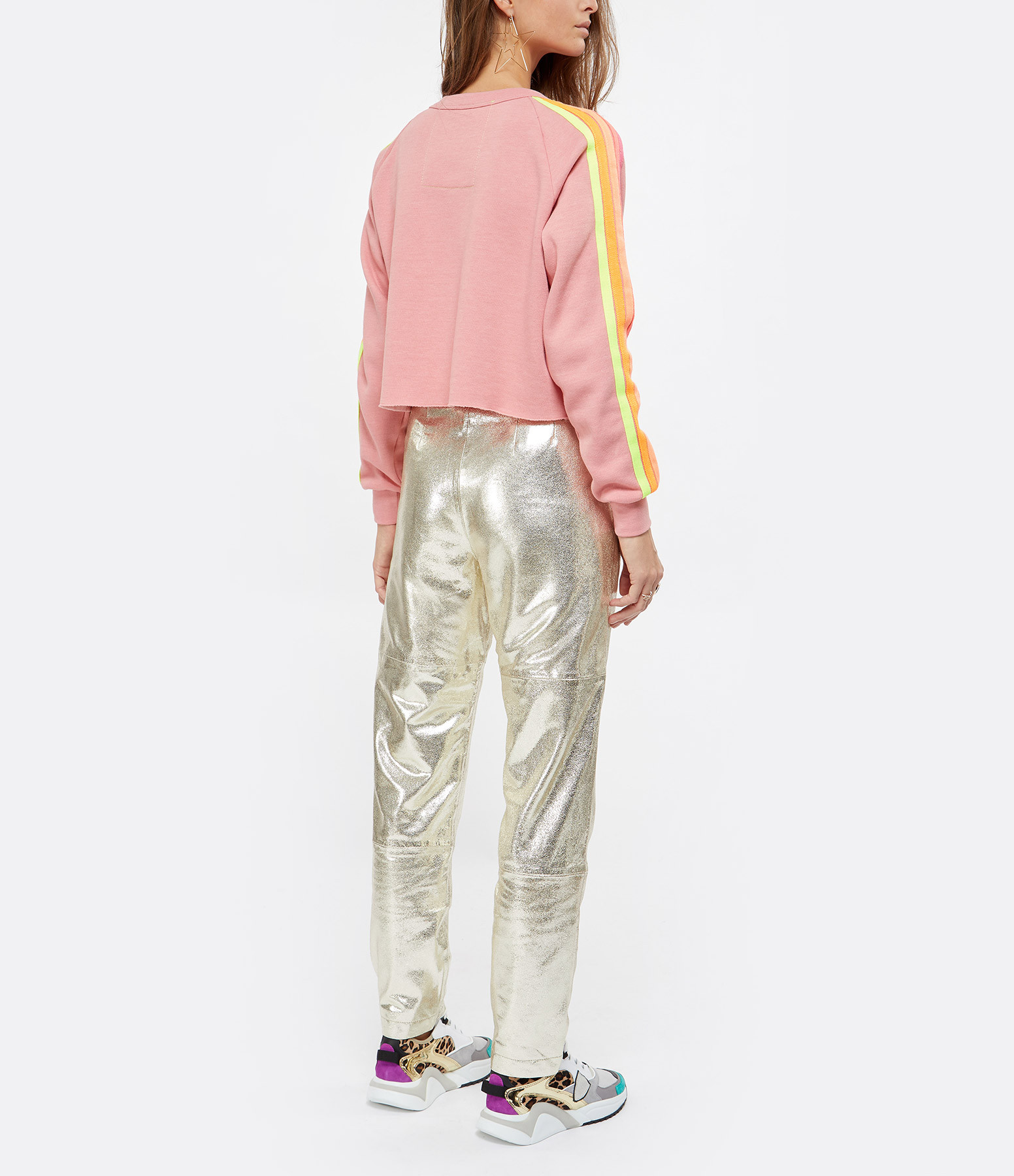 AVIATOR NATION - Sweatshirt Bolt Classique Rose Néon