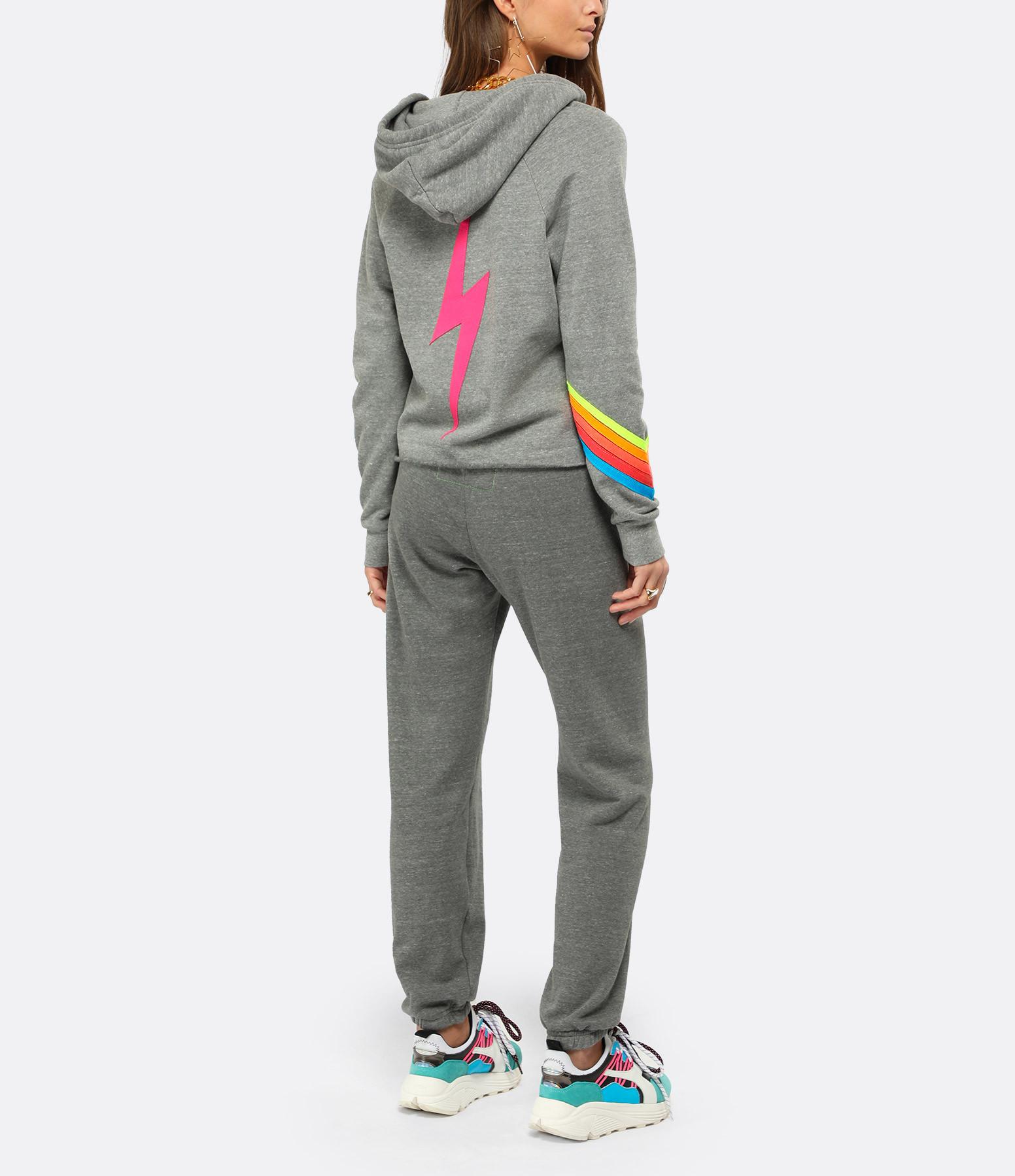 AVIATOR NATION - Sweatshirt Bolt Crop Arc-en-Ciel