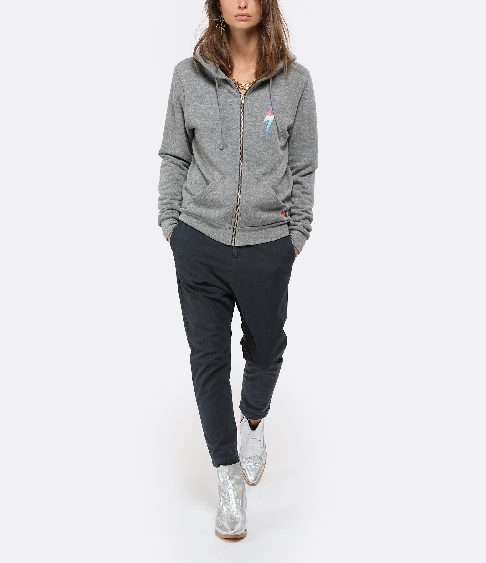 AVIATOR NATION - Sweatshirt Bolt Zip Rose