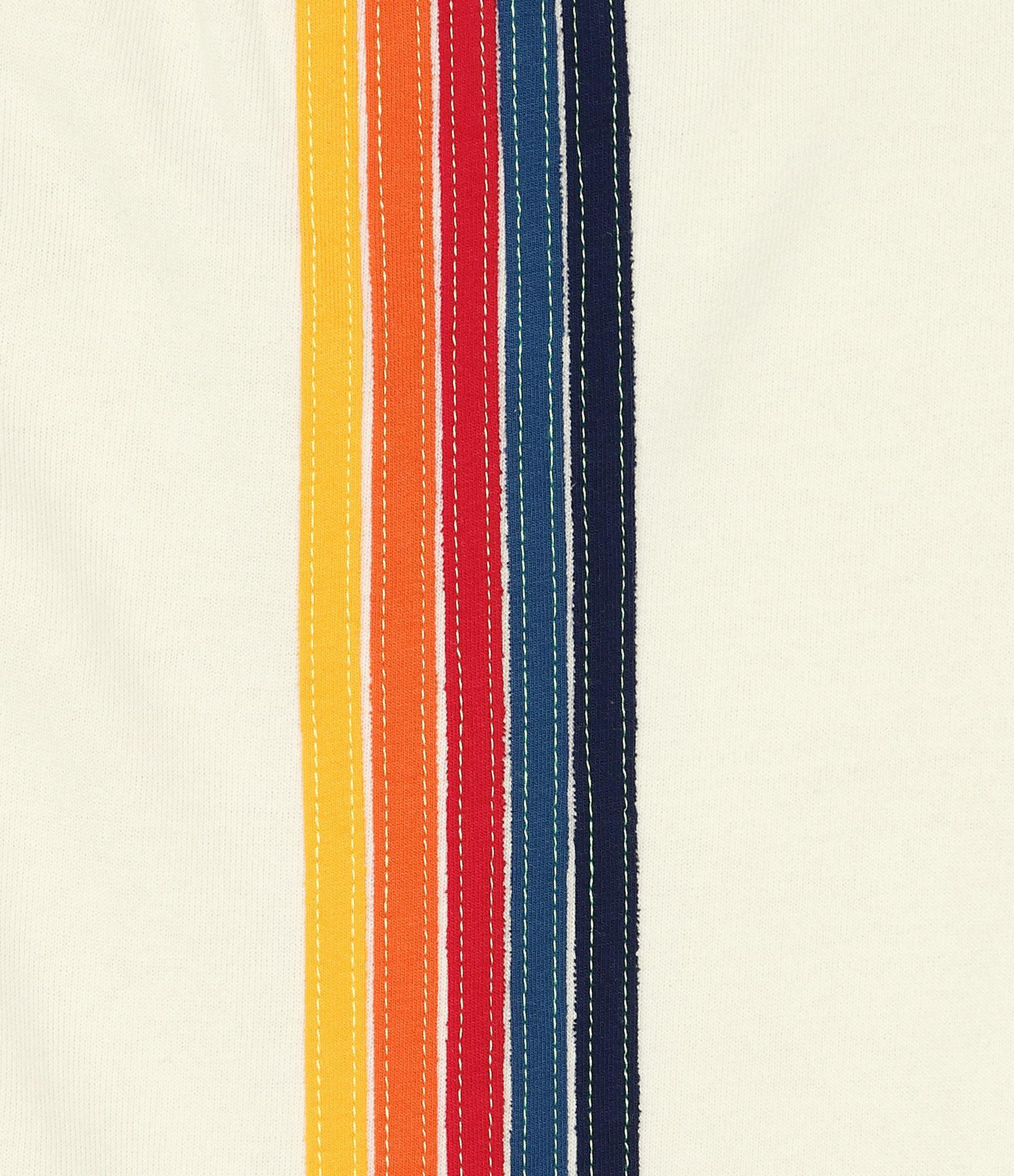 AVIATOR NATION - Jogging 5 Rayures Coton Blanc Vintage