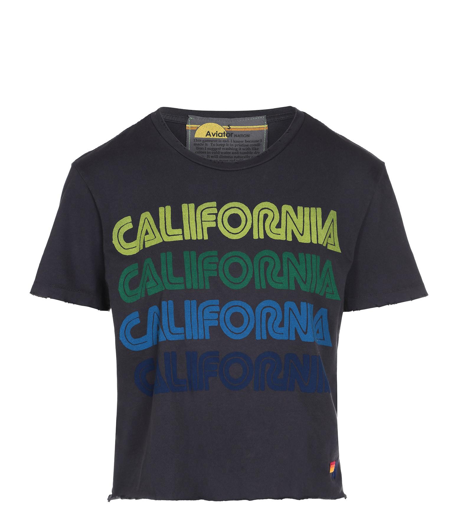 AVIATOR NATION - Tee-shirt California Repeat Charbon