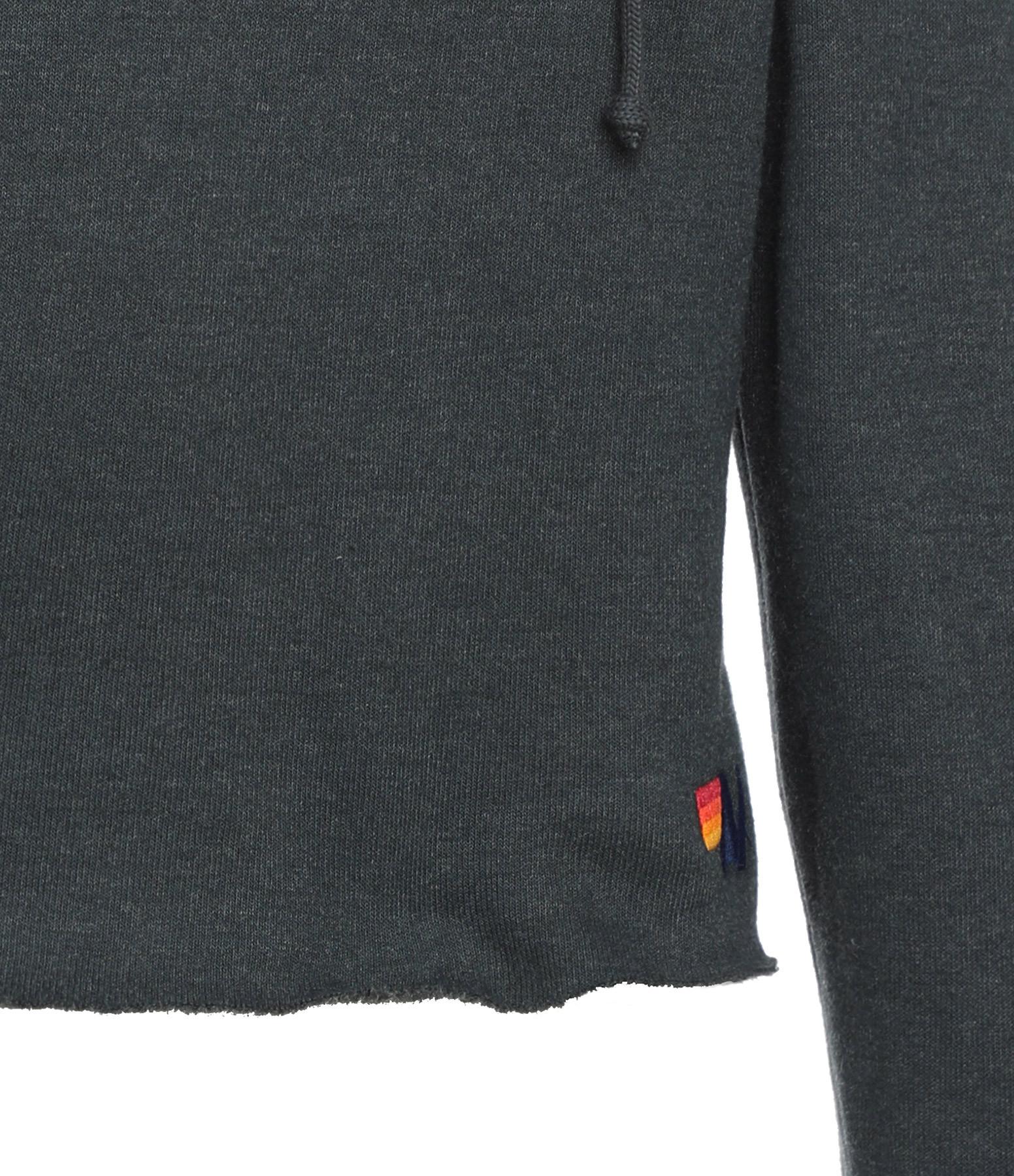 AVIATOR NATION - Sweatshirt Bolt Crop Charbon Néon