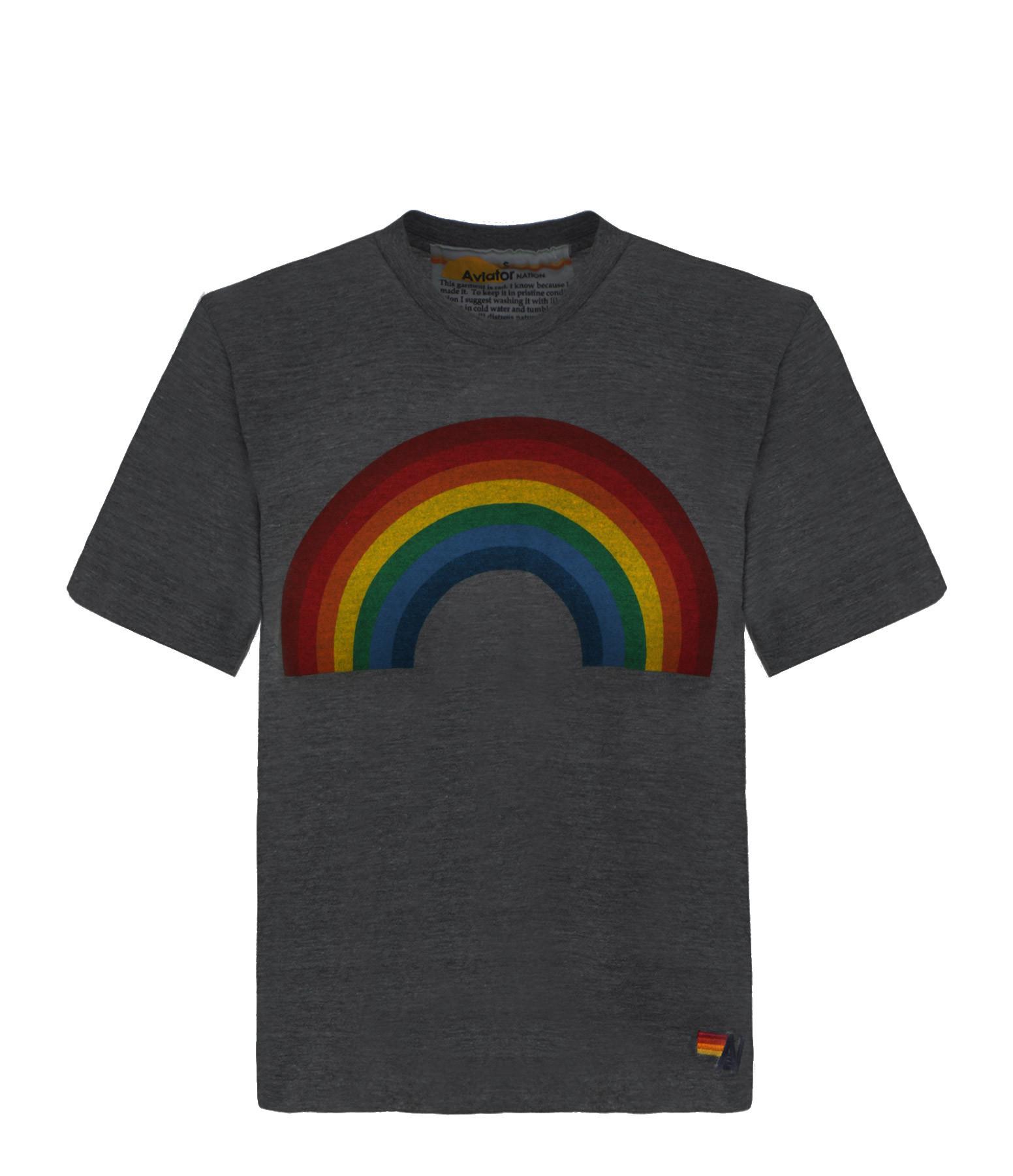 AVIATOR NATION - Tee-shirt Rainbow Charbon