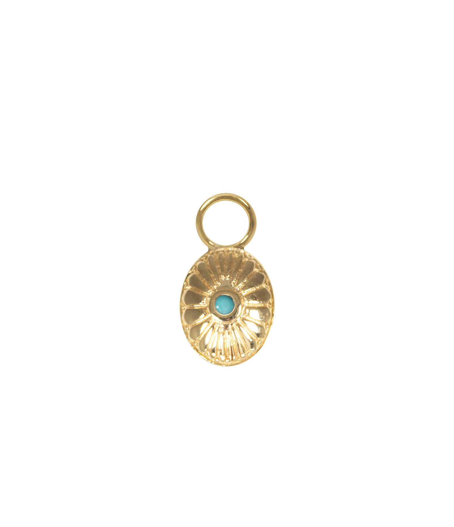 AND...PARIS - Mini Charm Navajo Turquoise Or