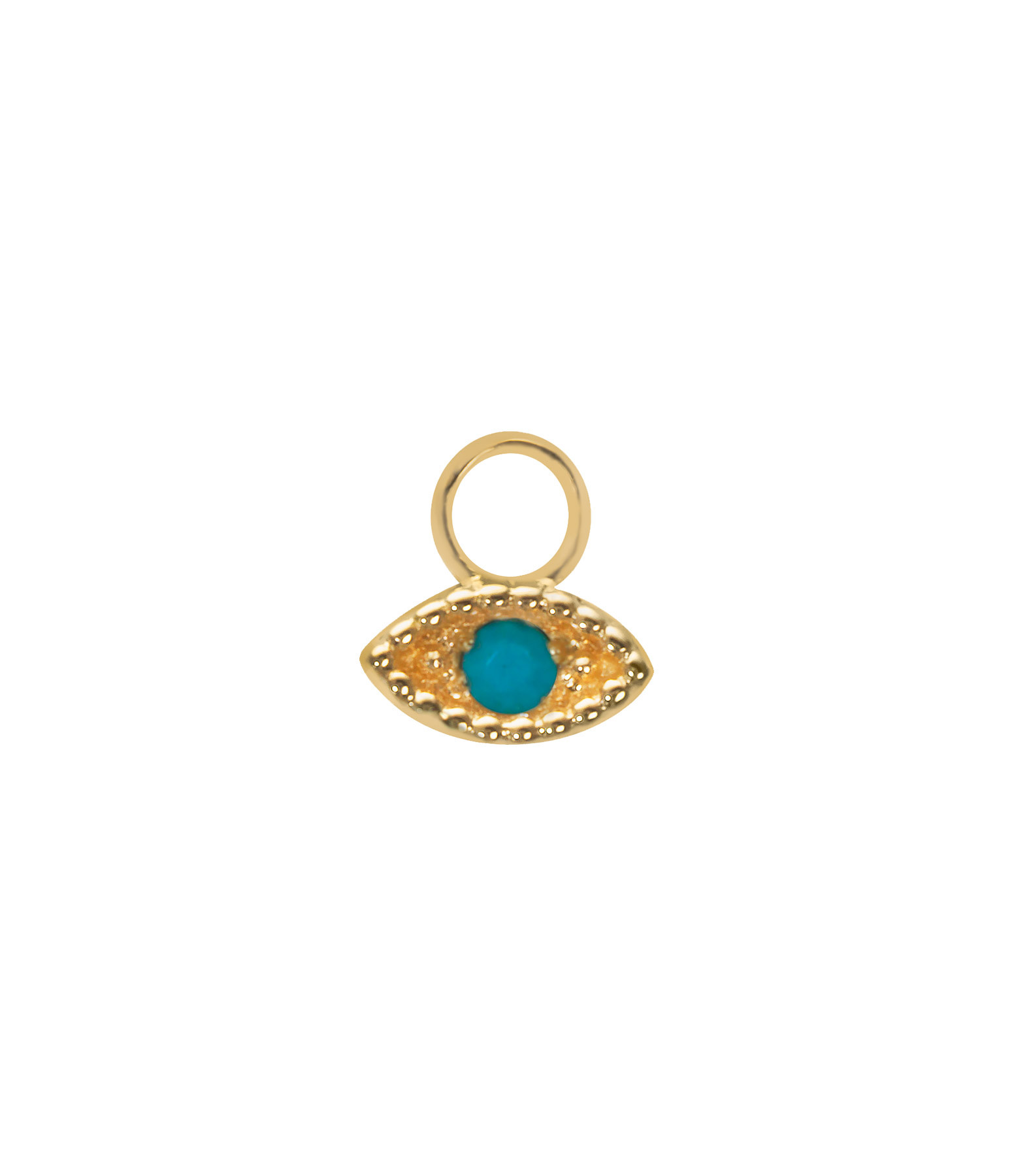 AND...PARIS - Mini Charm Œil Or Turquoise