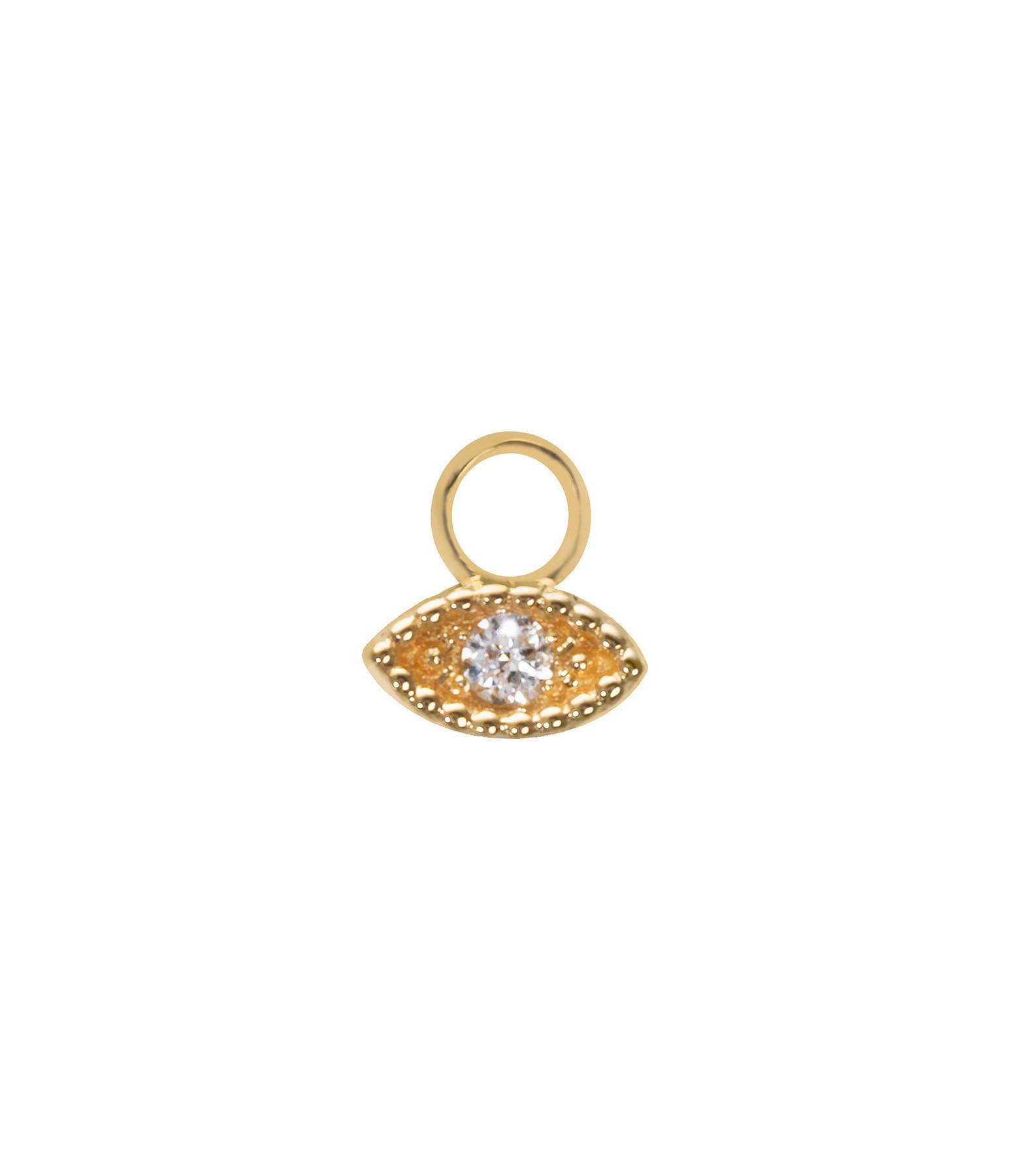 Mini Charm Œil Or Diamants - AND PARIS