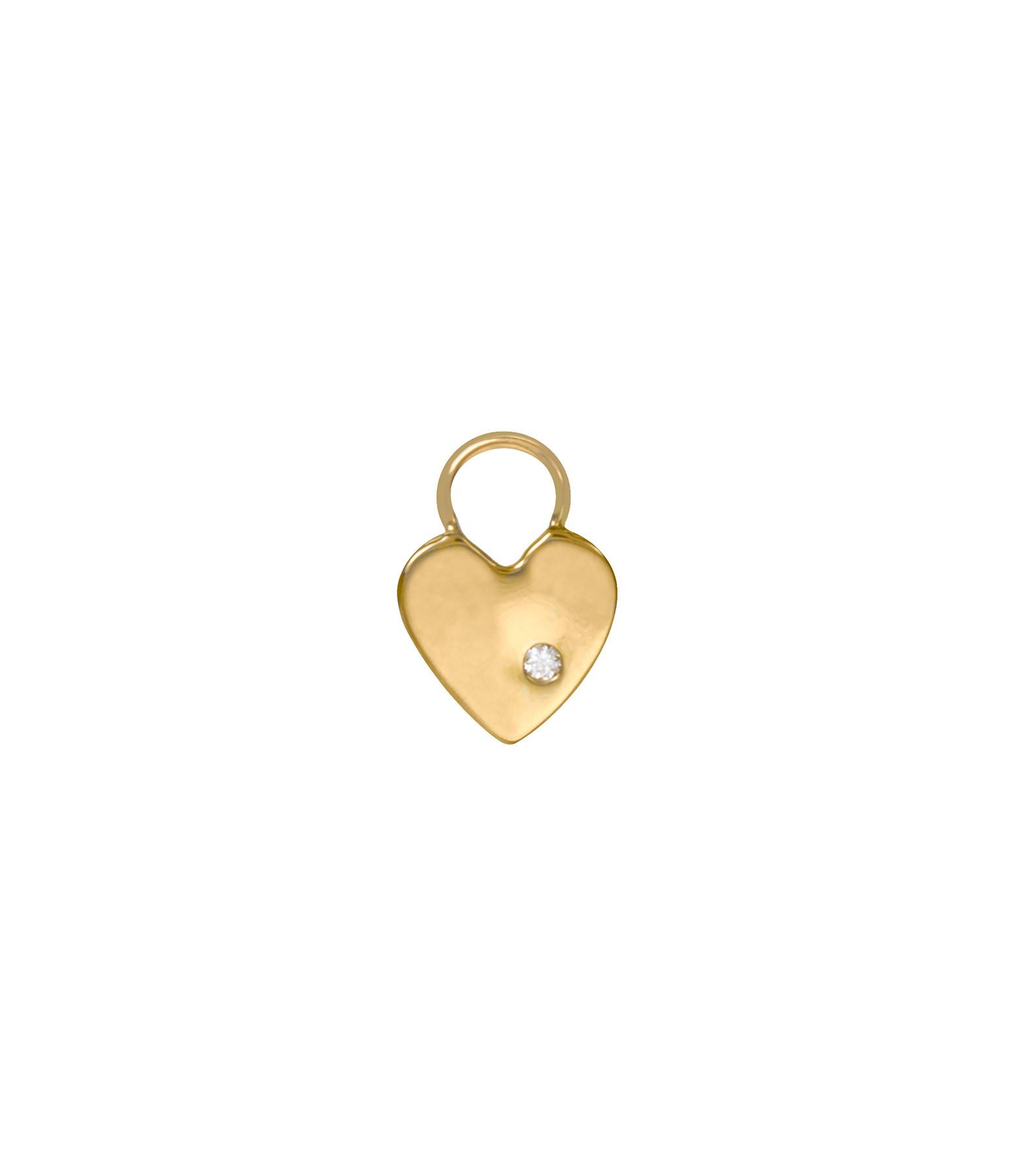 AND...PARIS - Mini Charm Coeur Or Diamant