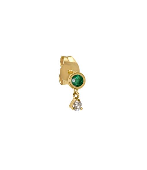 AND...PARIS - Boucle d'oreille Birthstone Émeraude Or (vendue à l'unité), Protection