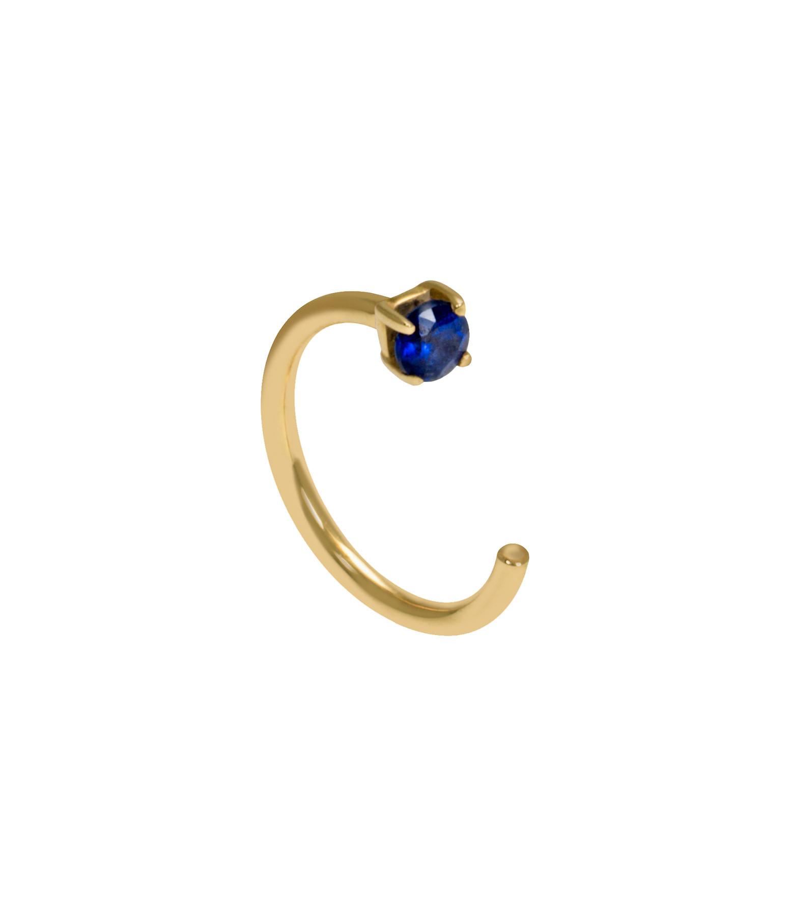 AND...PARIS - Créole Candy Arc Or Jaune Saphir Bleu (vendue à l'unité)