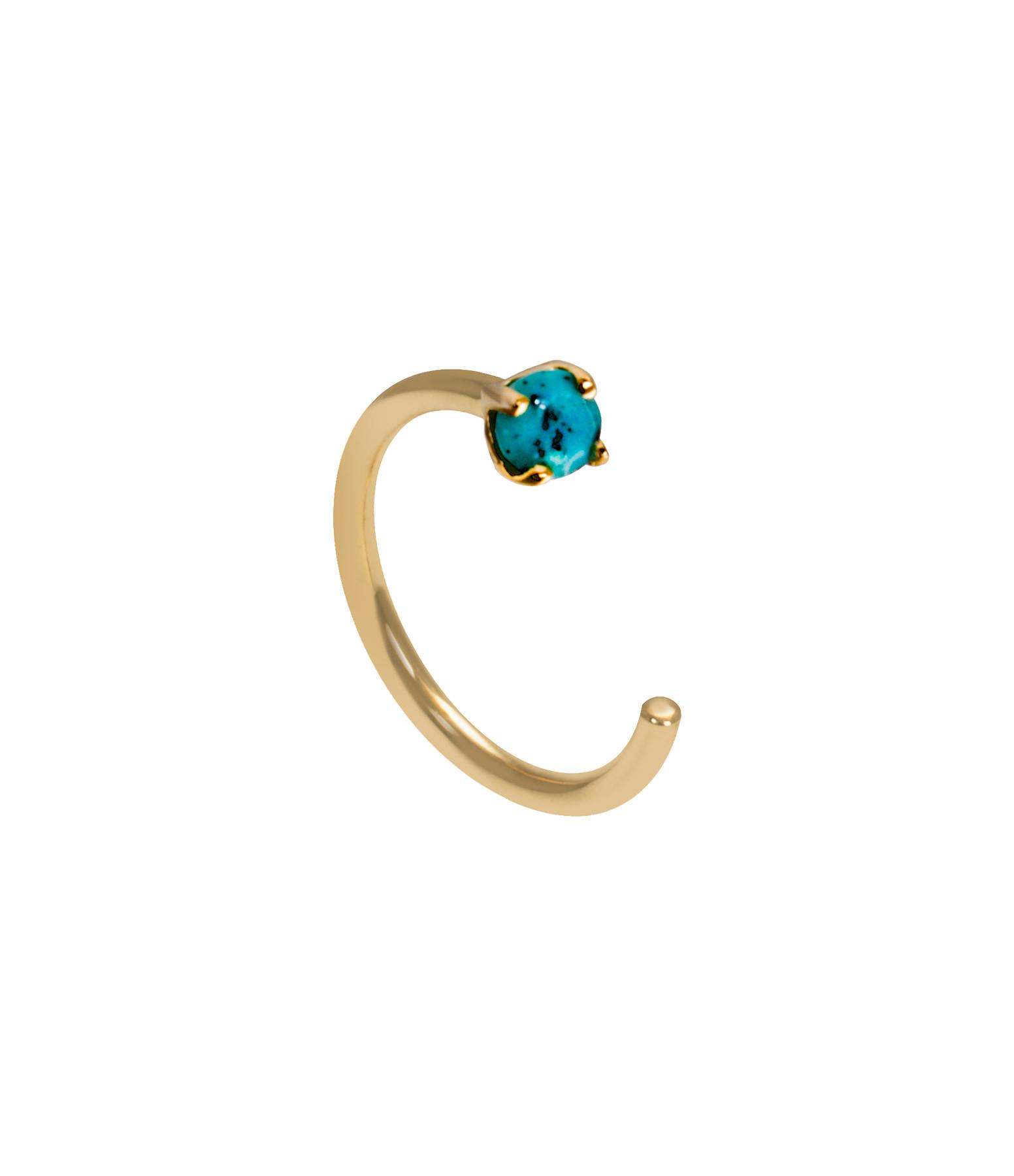 AND...PARIS - Créole Candy Arc Or Jaune Turquoise (vendue à l'unité)