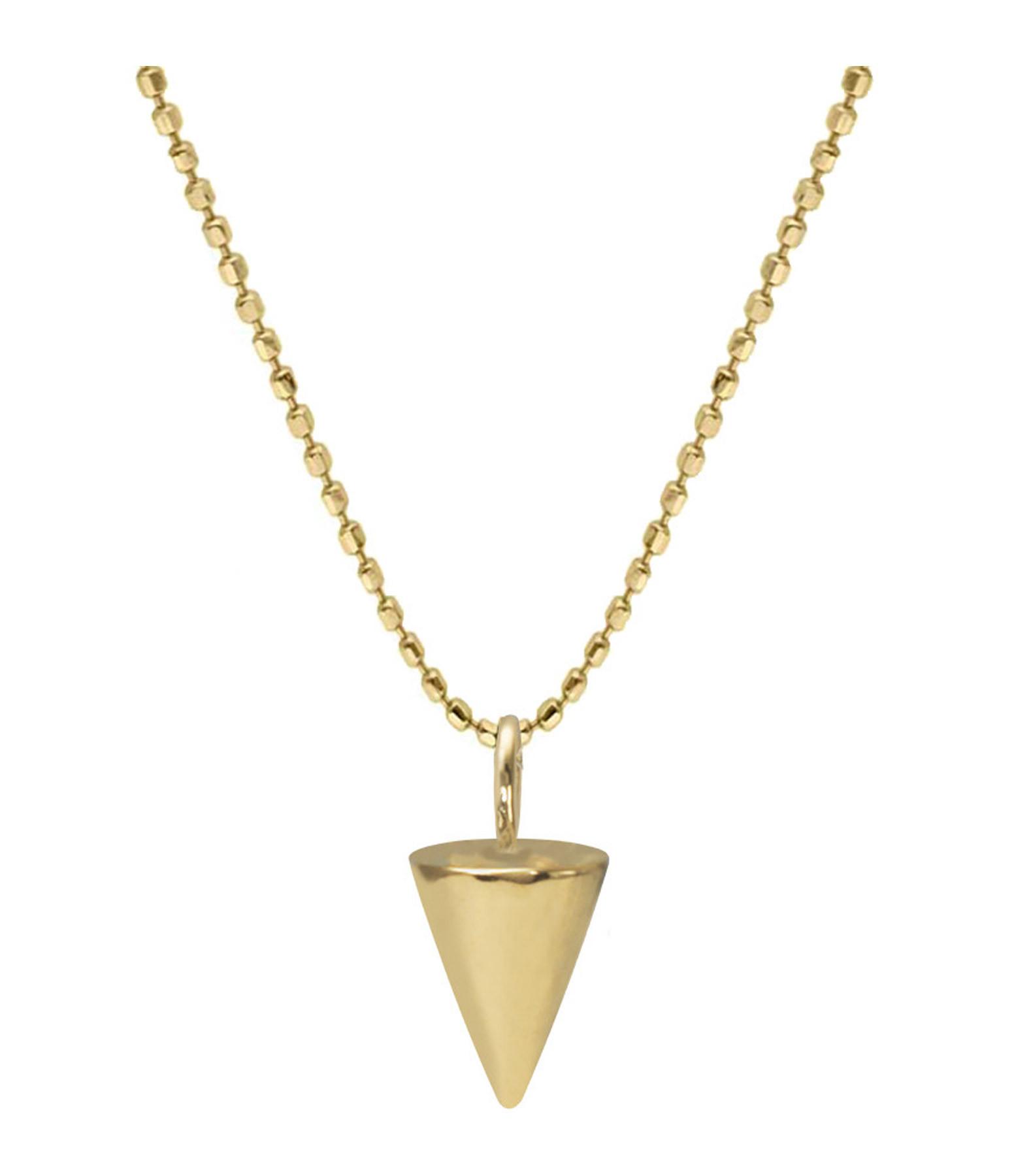 AND...PARIS - Sautoir Dessa Chaîne Boule Spike Diamants Or