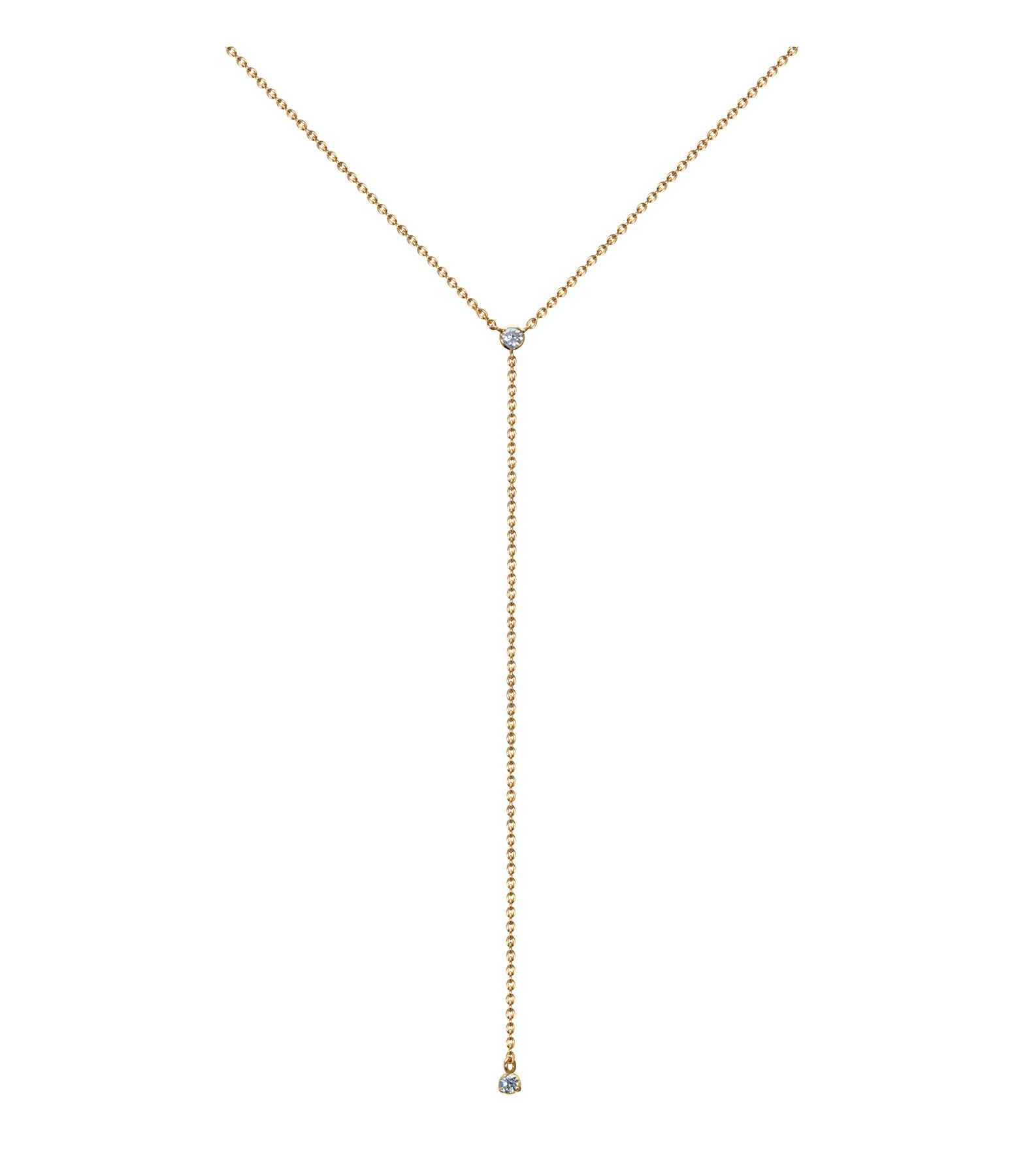 Collier Y Forçat Ronde Or et Diamants - AND PARIS