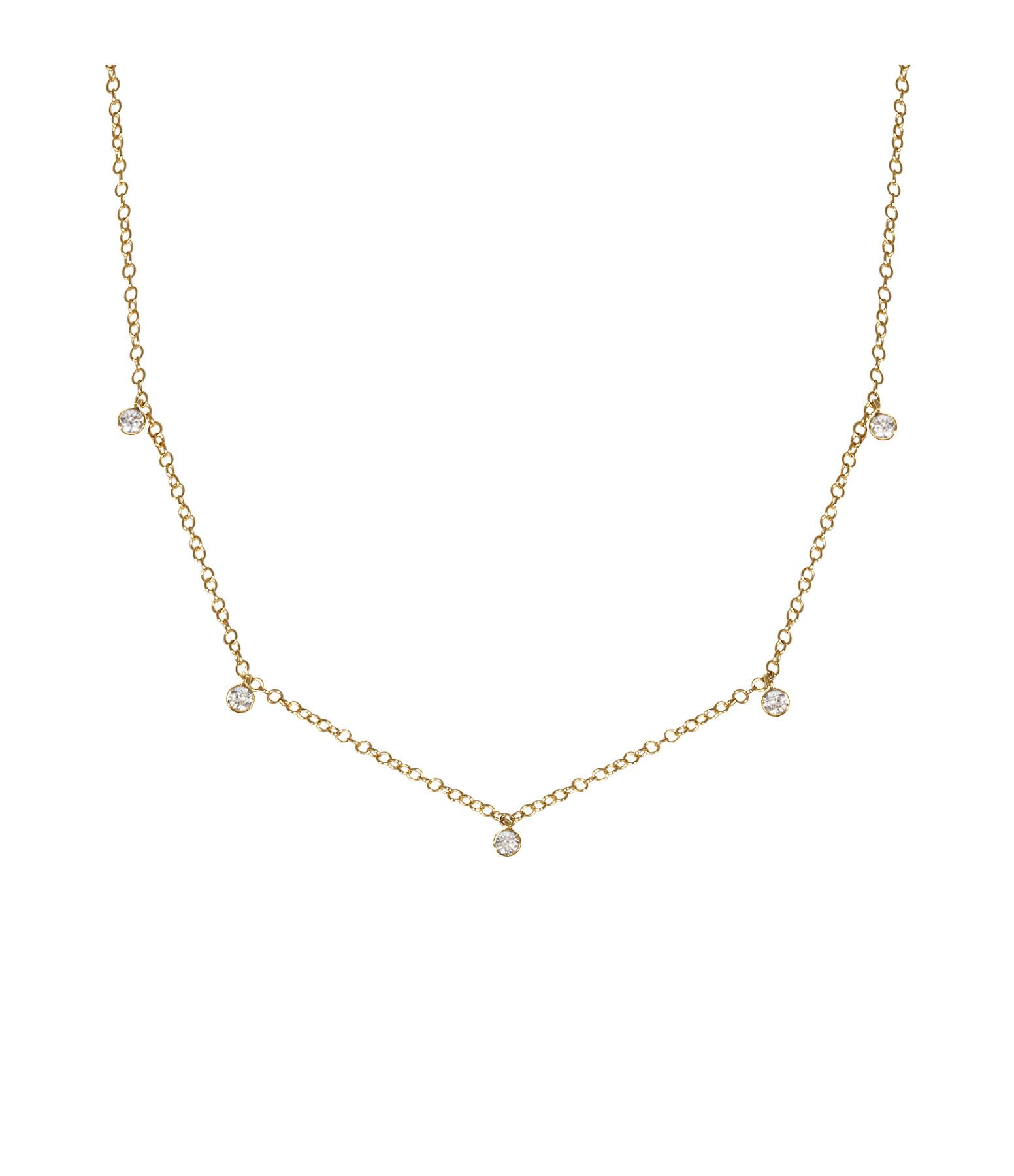 Collier Forçat Or et Diamants - AND PARIS