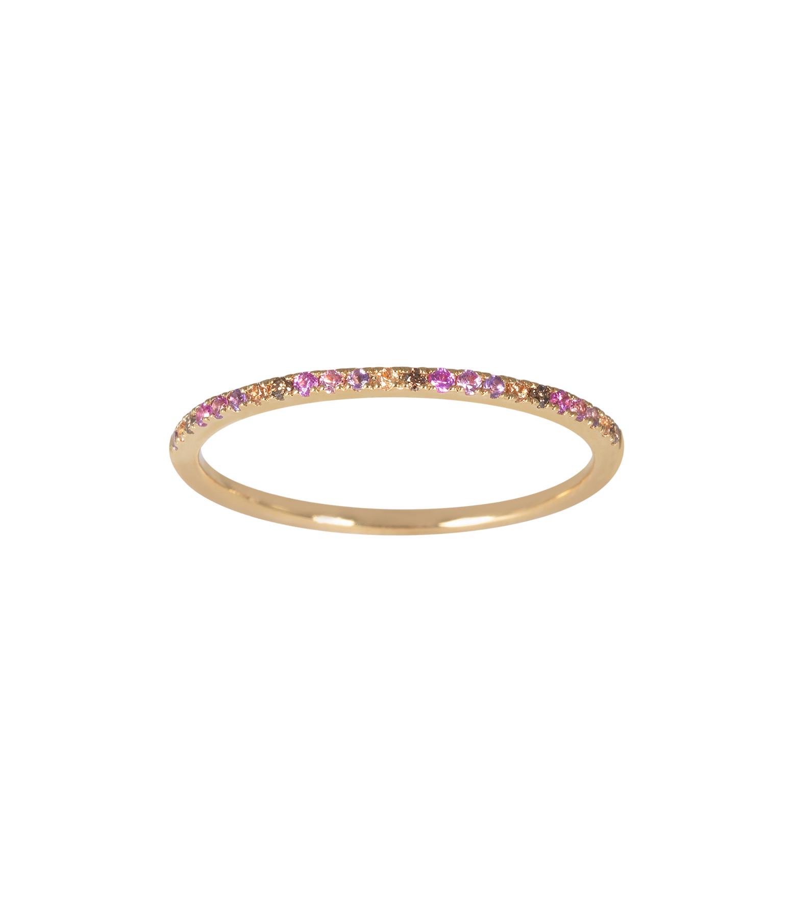 AND...PARIS - Bague Alliance Pastel Pierres Diamants Or