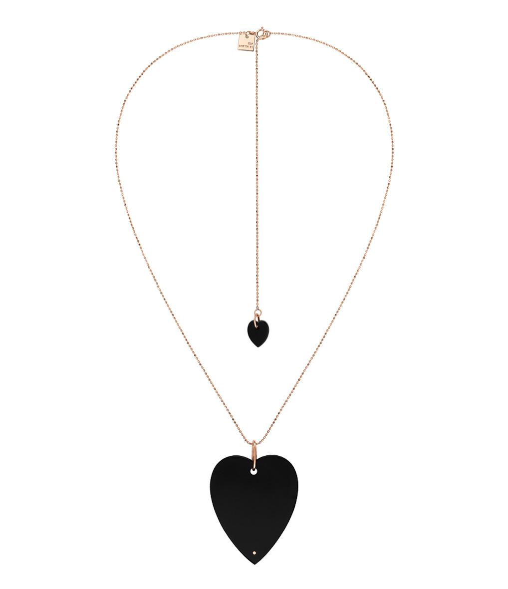 GINETTE_NY - Collier Angele Jumbo Coeur Onyx