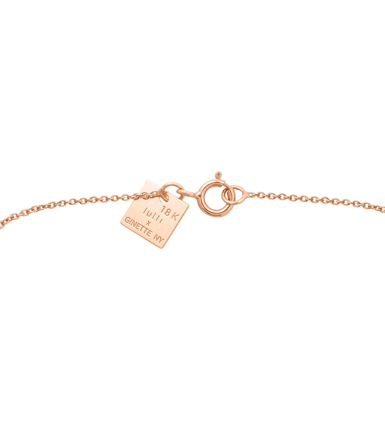GINETTE_NY - Collier Angèle Exclusivité Lulli Or Rose Onyx