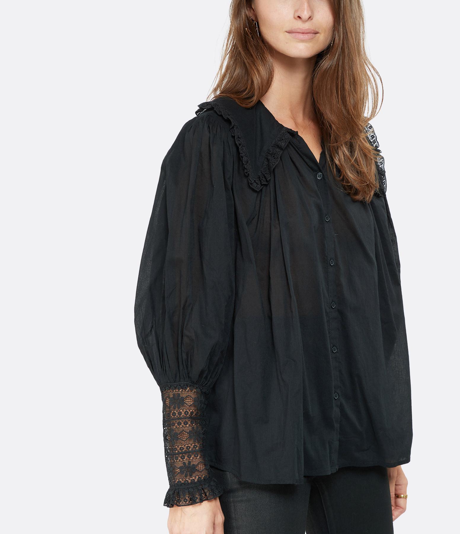ANTIK BATIK - Blouse Aramis Coton Noir