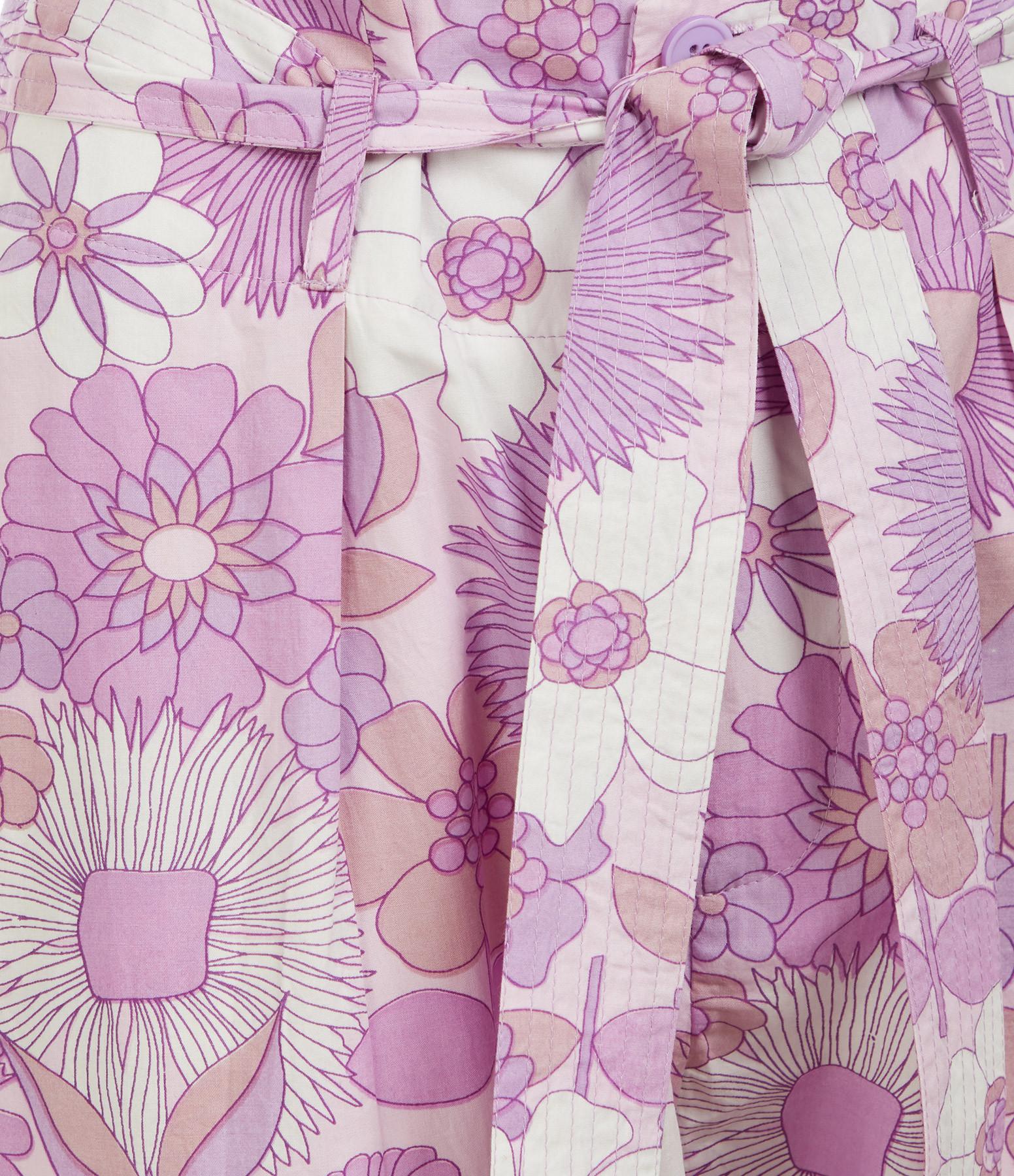 ANTIK BATIK - Pantalon Paula Coton Popeline Violet Clair